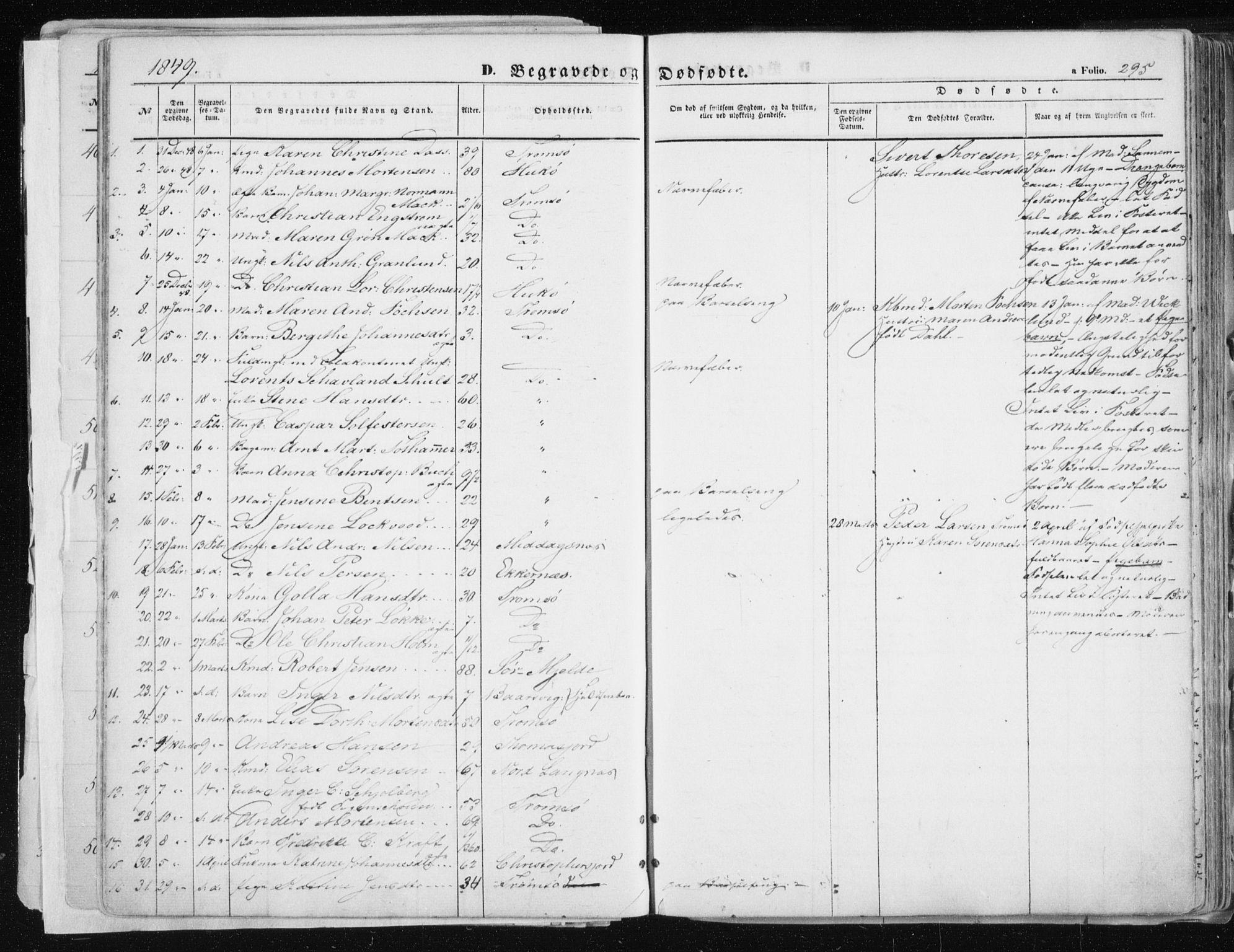 SATØ, Tromsø sokneprestkontor/stiftsprosti/domprosti, G/Ga/L0010kirke: Ministerialbok nr. 10, 1848-1855, s. 295