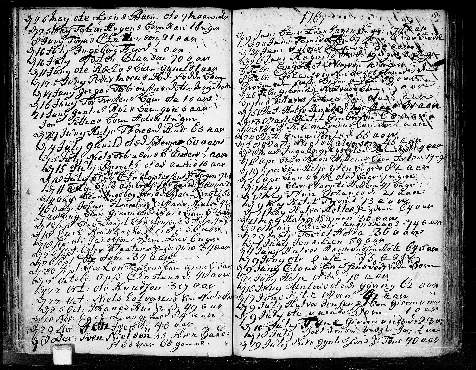 SAKO, Heddal kirkebøker, F/Fa/L0003: Ministerialbok nr. I 3, 1723-1783, s. 156