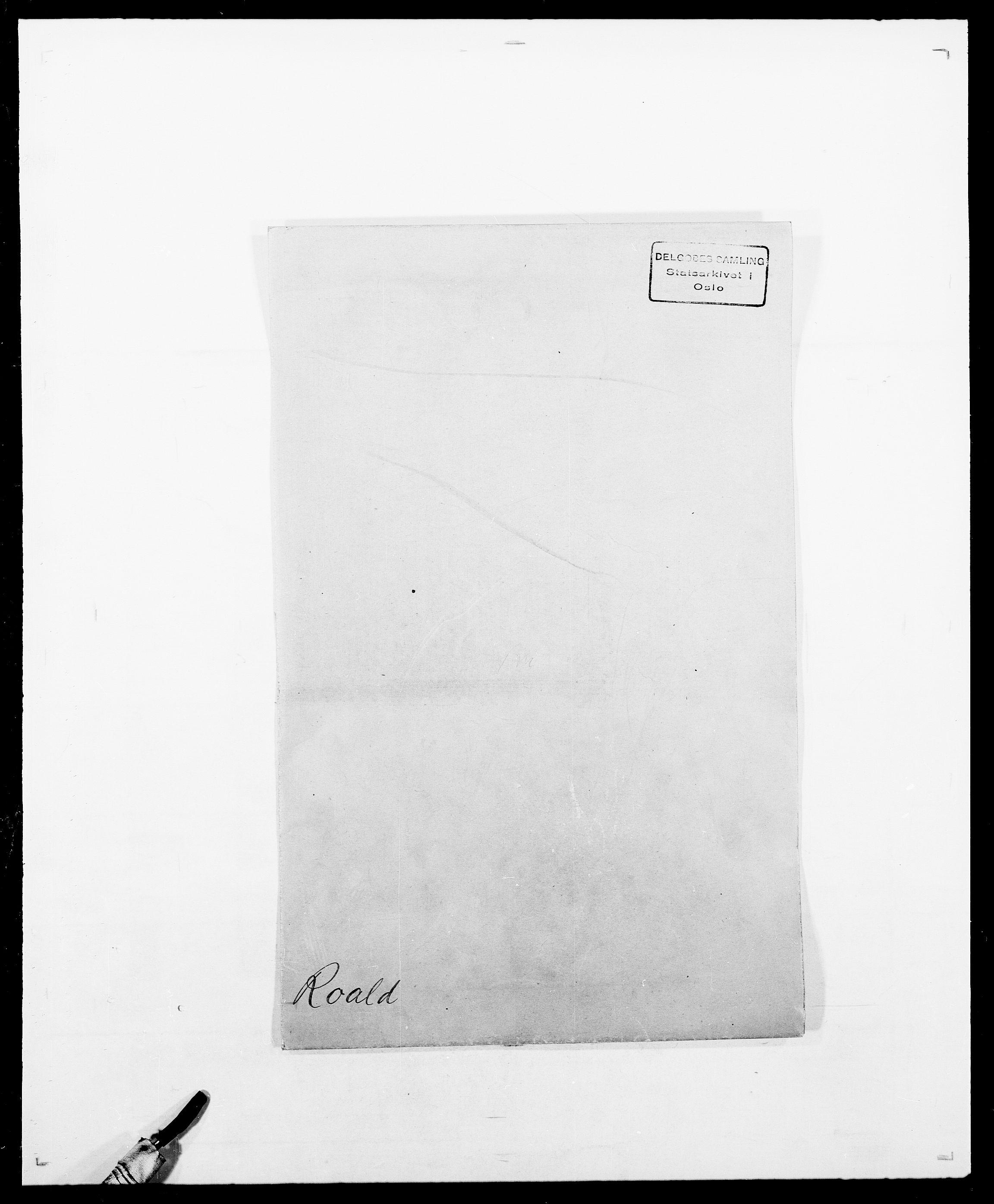 SAO, Delgobe, Charles Antoine - samling, D/Da/L0033: Roald - Røyem, s. 1