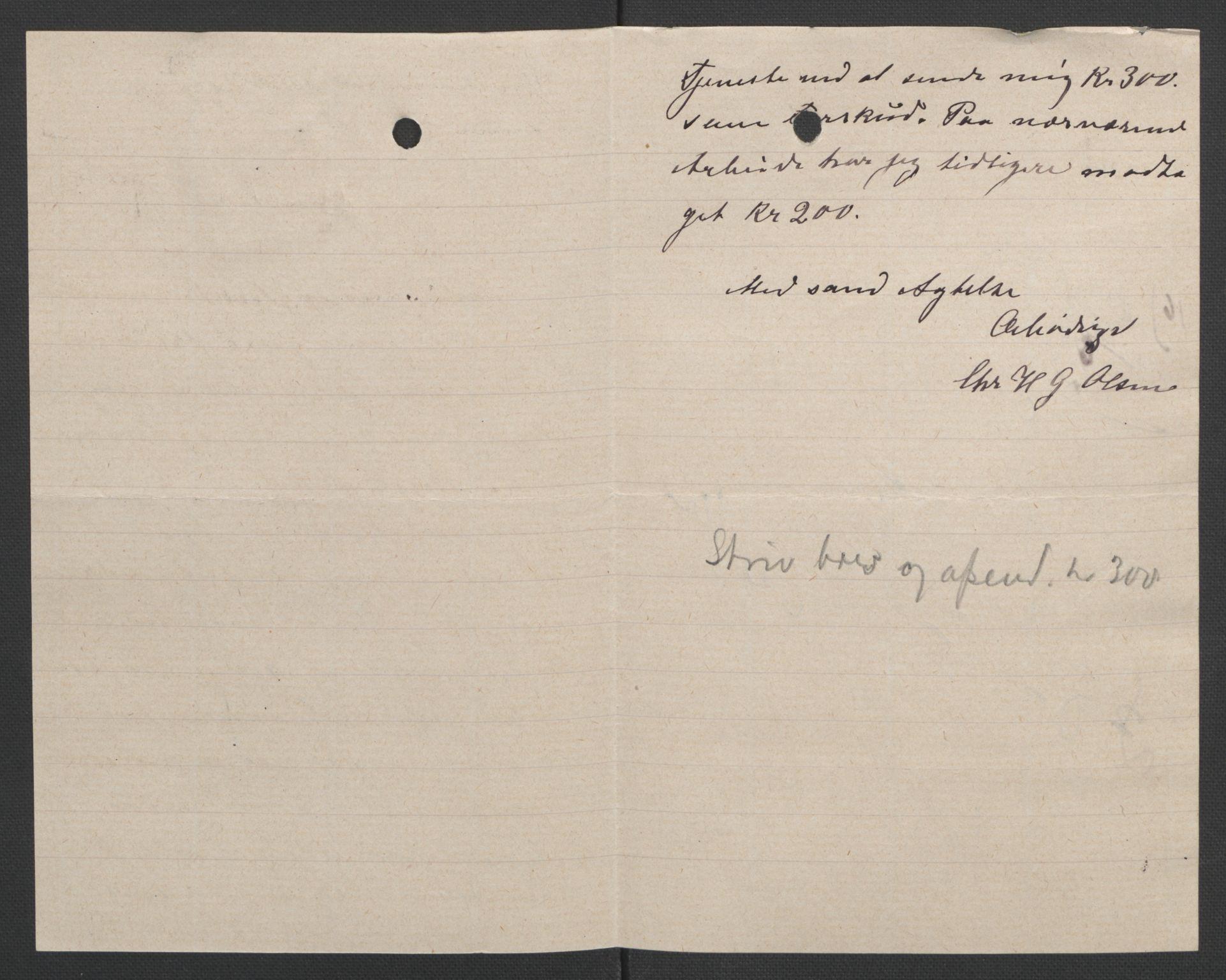 RA, Arbeidskomitéen for Fridtjof Nansens polarekspedisjon, D/L0003: Innk. brev og telegrammer vedr. proviant og utrustning, 1893, s. 308