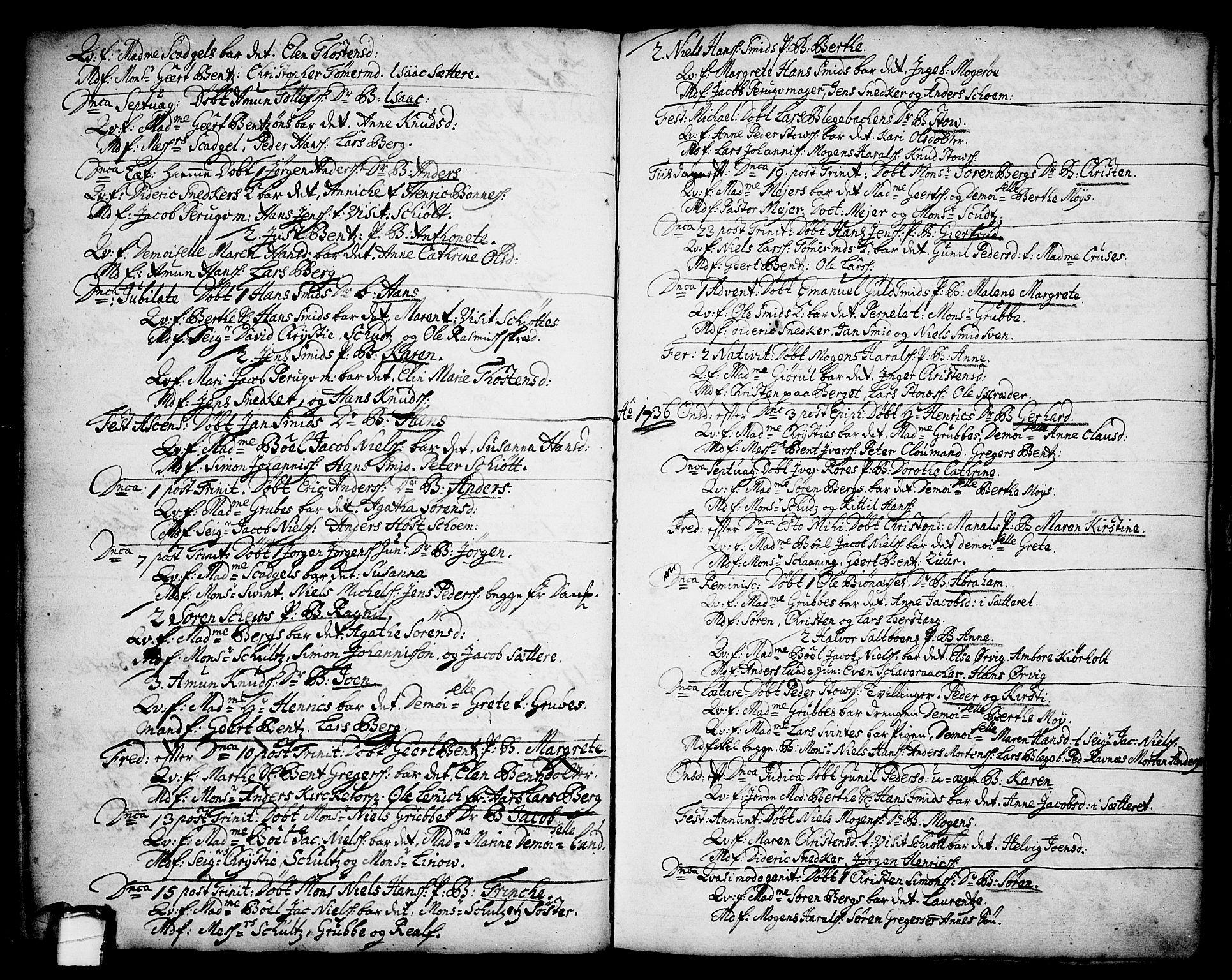 SAKO, Brevik kirkebøker, F/Fa/L0002: Ministerialbok nr. 2, 1720-1764, s. 34f