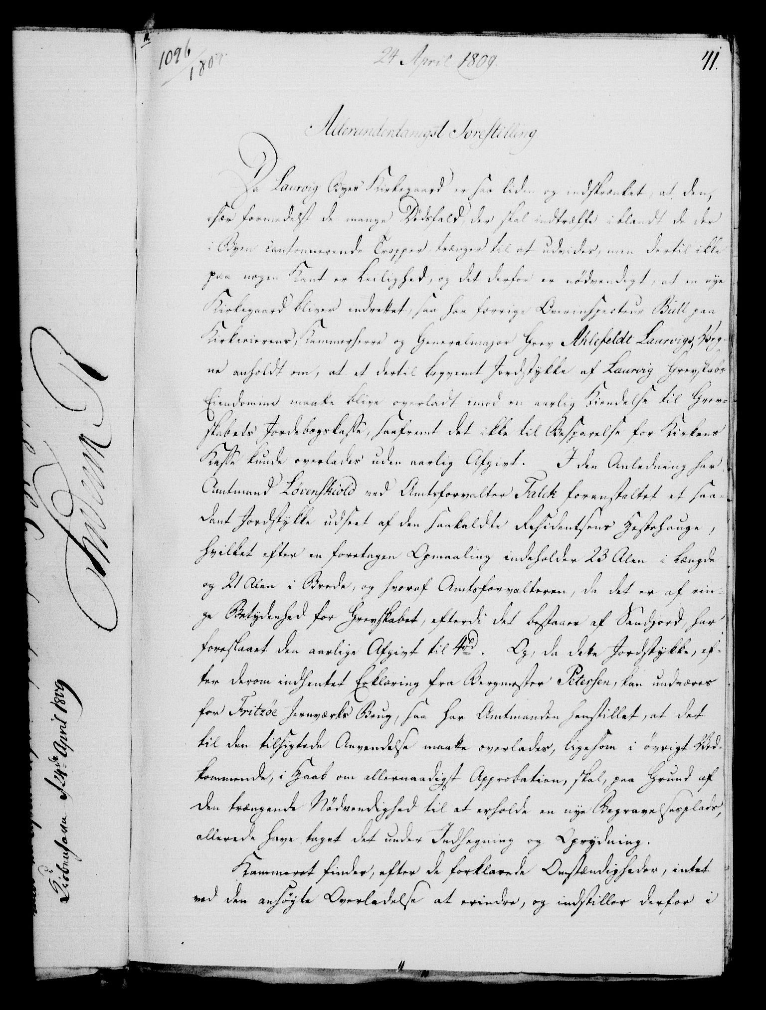 RA, Rentekammeret, Kammerkanselliet, G/Gf/Gfa/L0091: Norsk relasjons- og resolusjonsprotokoll (merket RK 52.91), 1809, s. 187