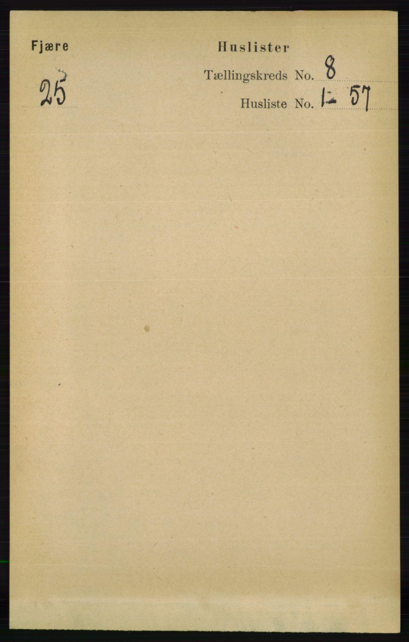 RA, Folketelling 1891 for 0923 Fjære herred, 1891, s. 3677