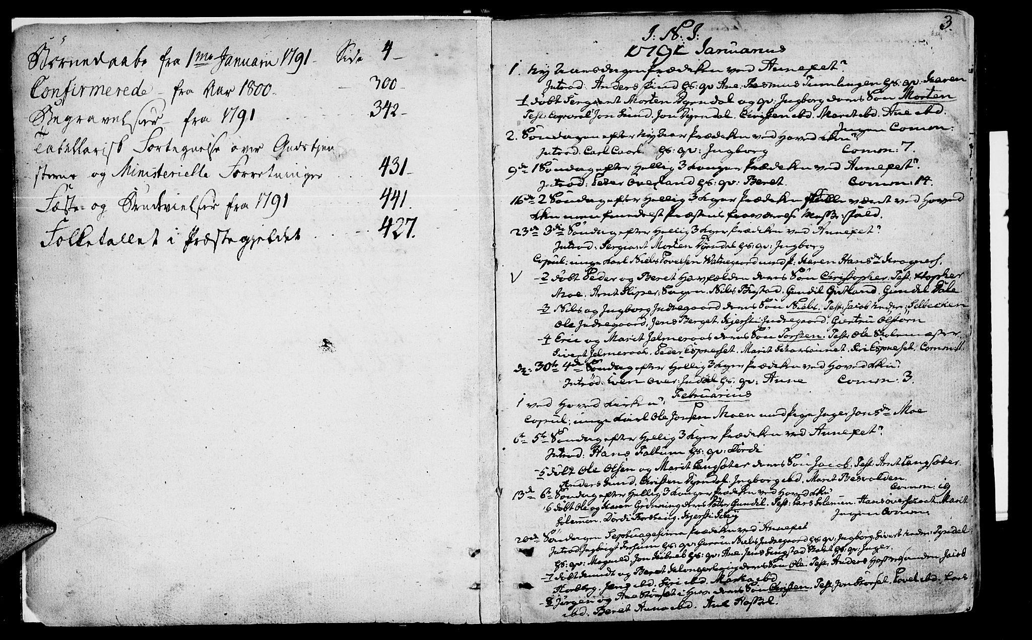 SAT, Ministerialprotokoller, klokkerbøker og fødselsregistre - Sør-Trøndelag, 646/L0606: Ministerialbok nr. 646A04, 1791-1805, s. 2-3