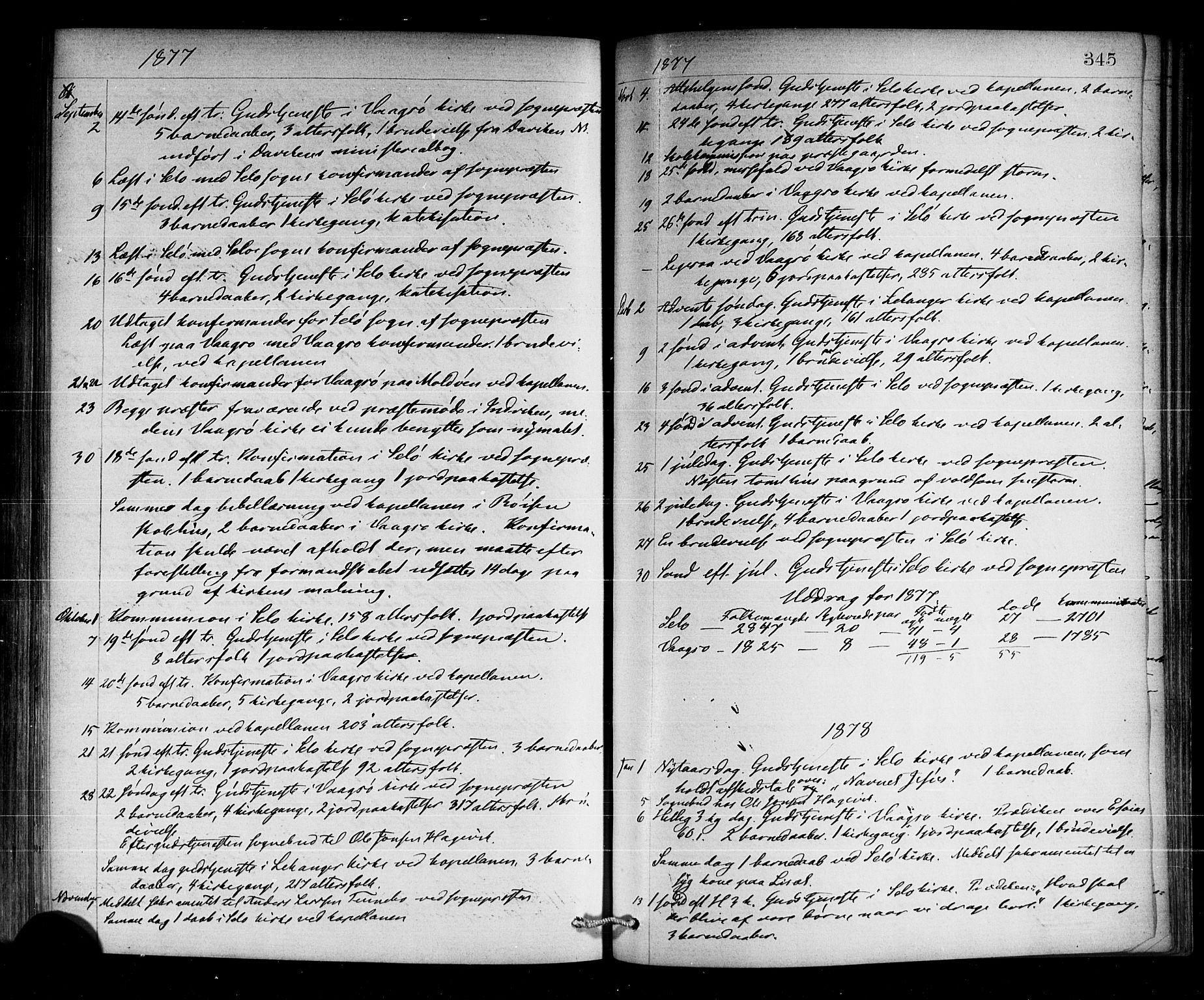 SAB, Selje sokneprestembete*, Ministerialbok nr. A 12, 1870-1880, s. 345