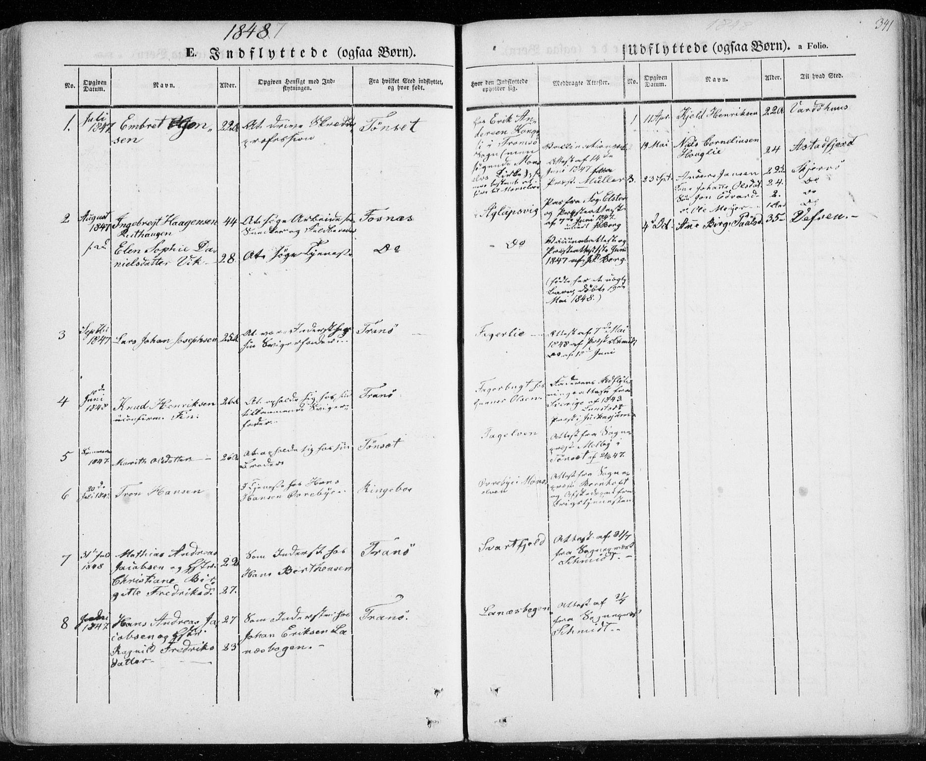 SATØ, Lenvik sokneprestembete, H/Ha: Ministerialbok nr. 6, 1845-1854, s. 341