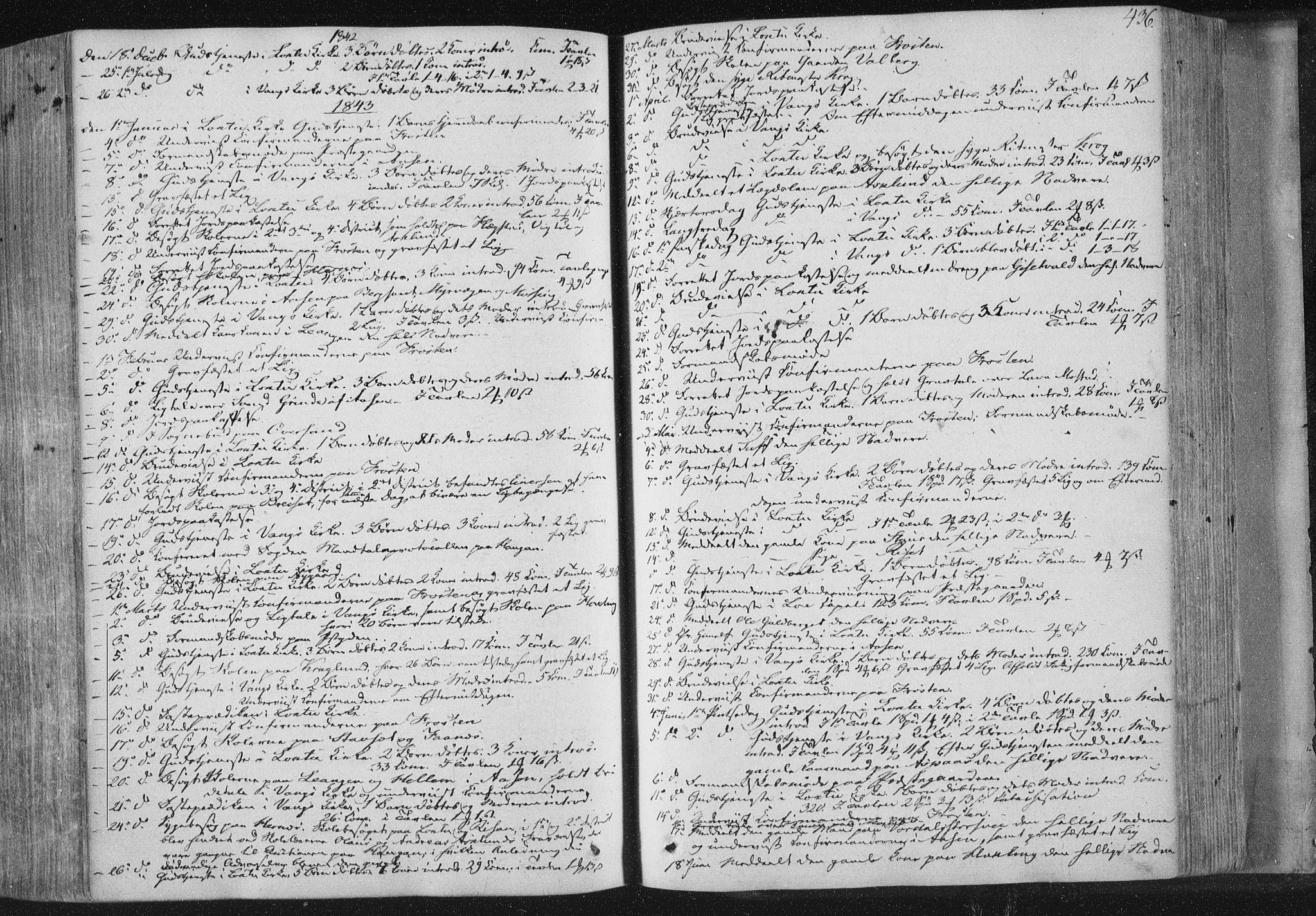 SAT, Ministerialprotokoller, klokkerbøker og fødselsregistre - Nord-Trøndelag, 713/L0115: Ministerialbok nr. 713A06, 1838-1851, s. 436