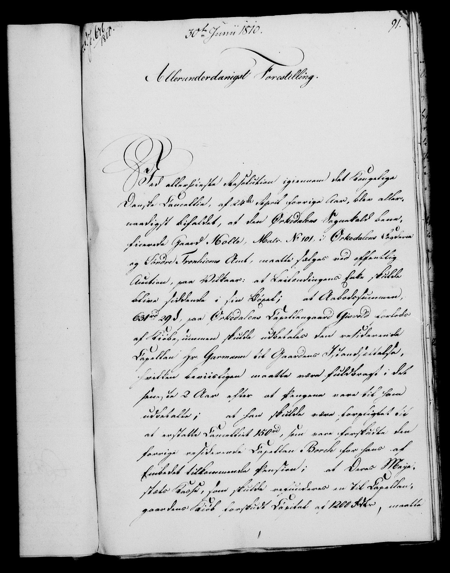 RA, Rentekammeret, Kammerkanselliet, G/Gf/Gfa/L0092: Norsk relasjons- og resolusjonsprotokoll (merket RK 52.92), 1810, s. 345