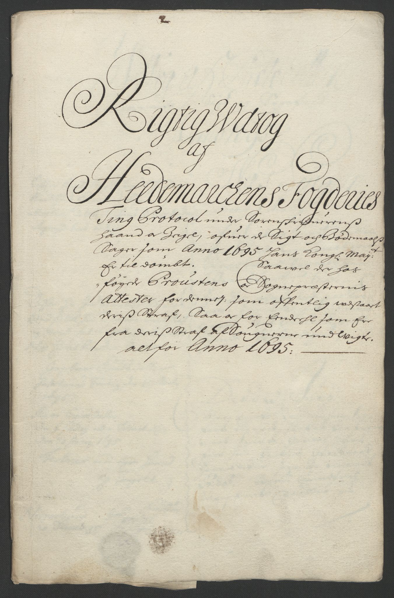 RA, Rentekammeret inntil 1814, Reviderte regnskaper, Fogderegnskap, R16/L1036: Fogderegnskap Hedmark, 1695-1696, s. 66