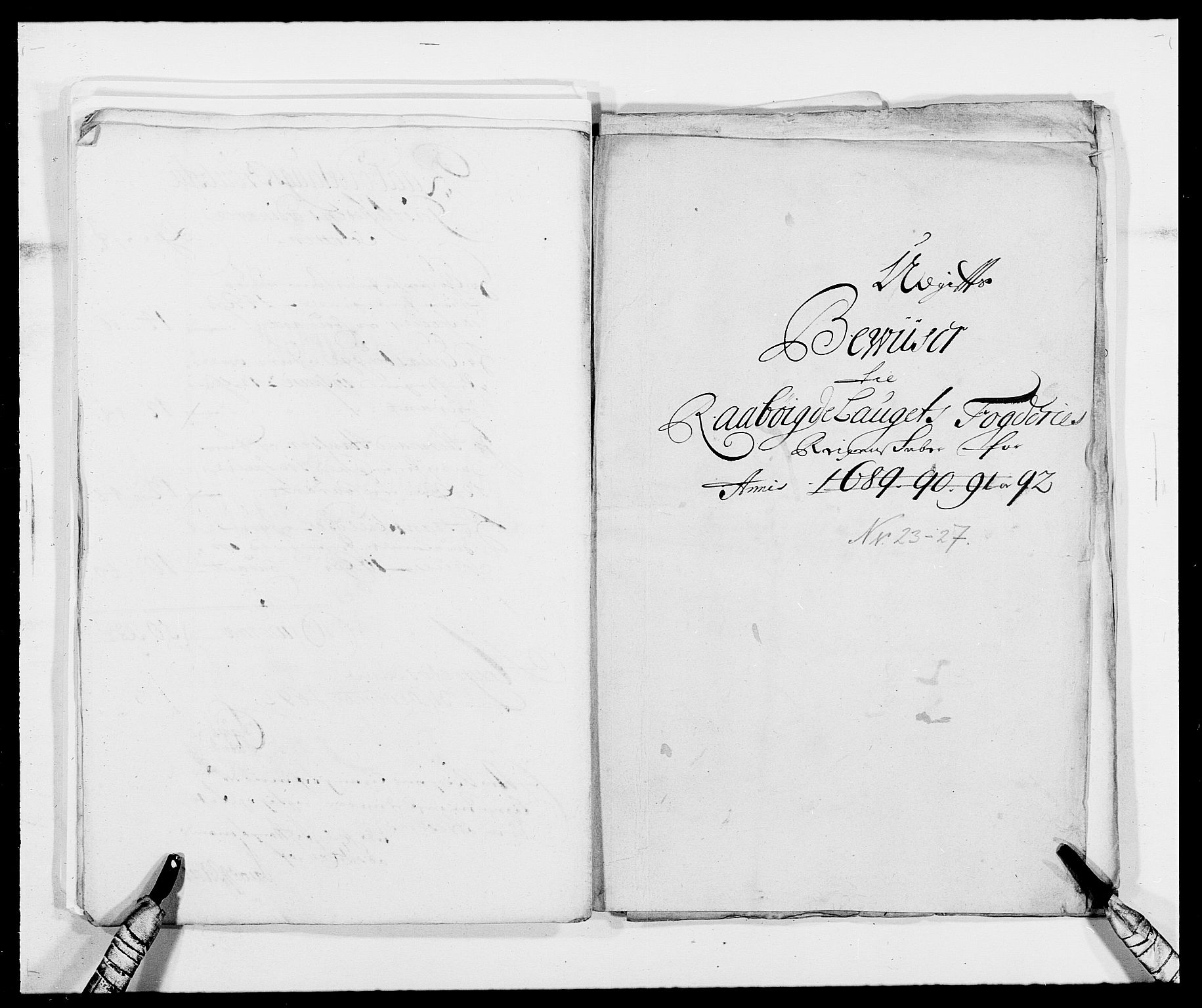 RA, Rentekammeret inntil 1814, Reviderte regnskaper, Fogderegnskap, R40/L2443: Fogderegnskap Råbyggelag, 1691-1692, s. 161