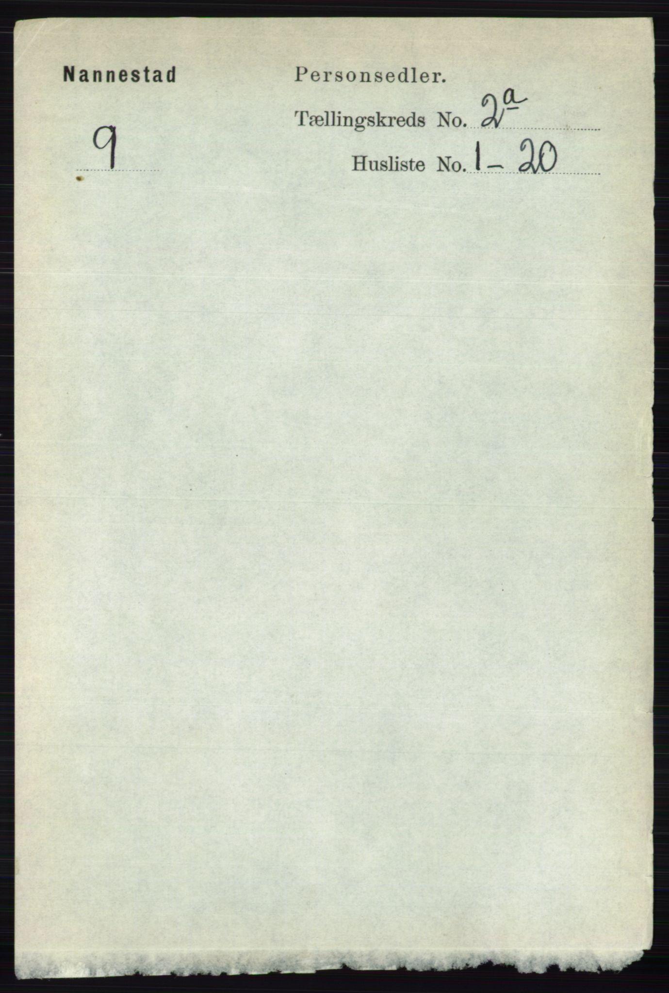 RA, Folketelling 1891 for 0238 Nannestad herred, 1891, s. 861