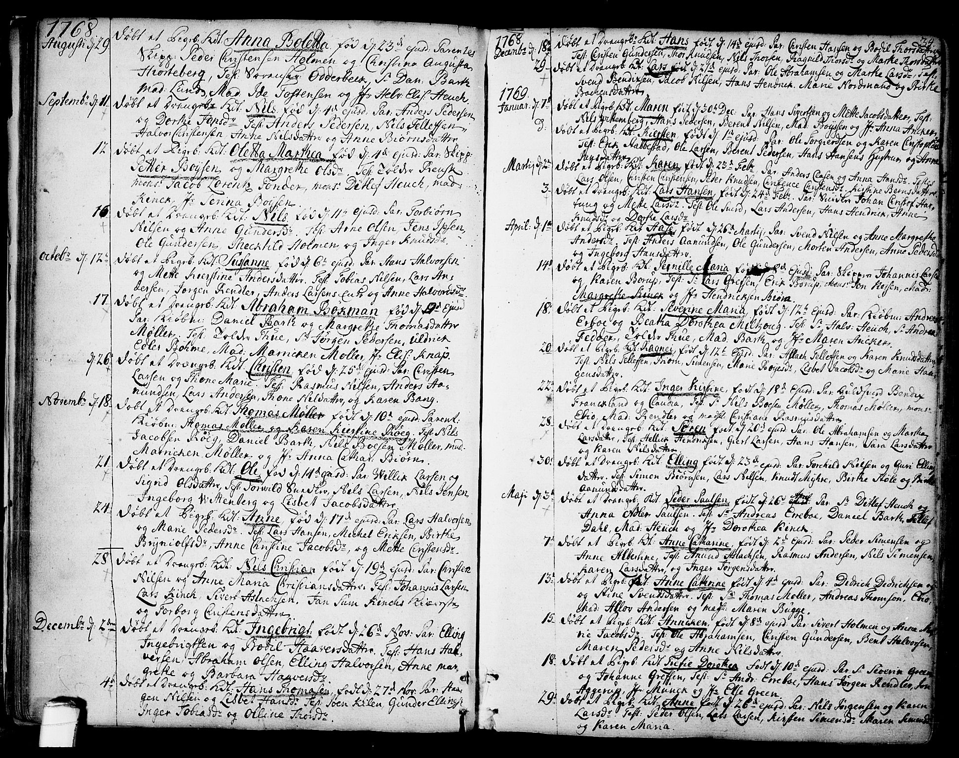 SAKO, Kragerø kirkebøker, F/Fa/L0002: Ministerialbok nr. 2, 1767-1802, s. 34