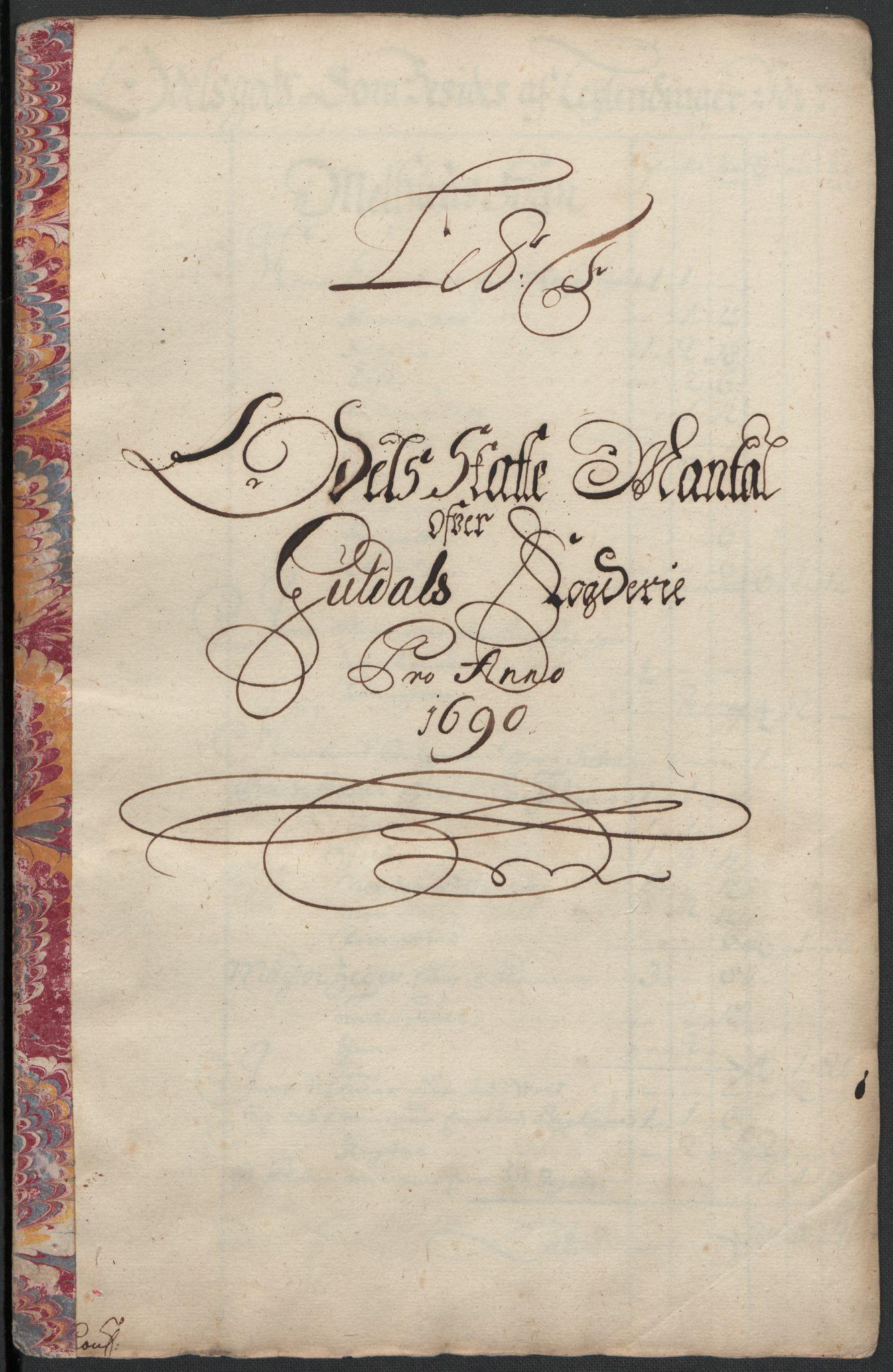 RA, Rentekammeret inntil 1814, Reviderte regnskaper, Fogderegnskap, R59/L3940: Fogderegnskap Gauldal, 1689-1690, s. 262