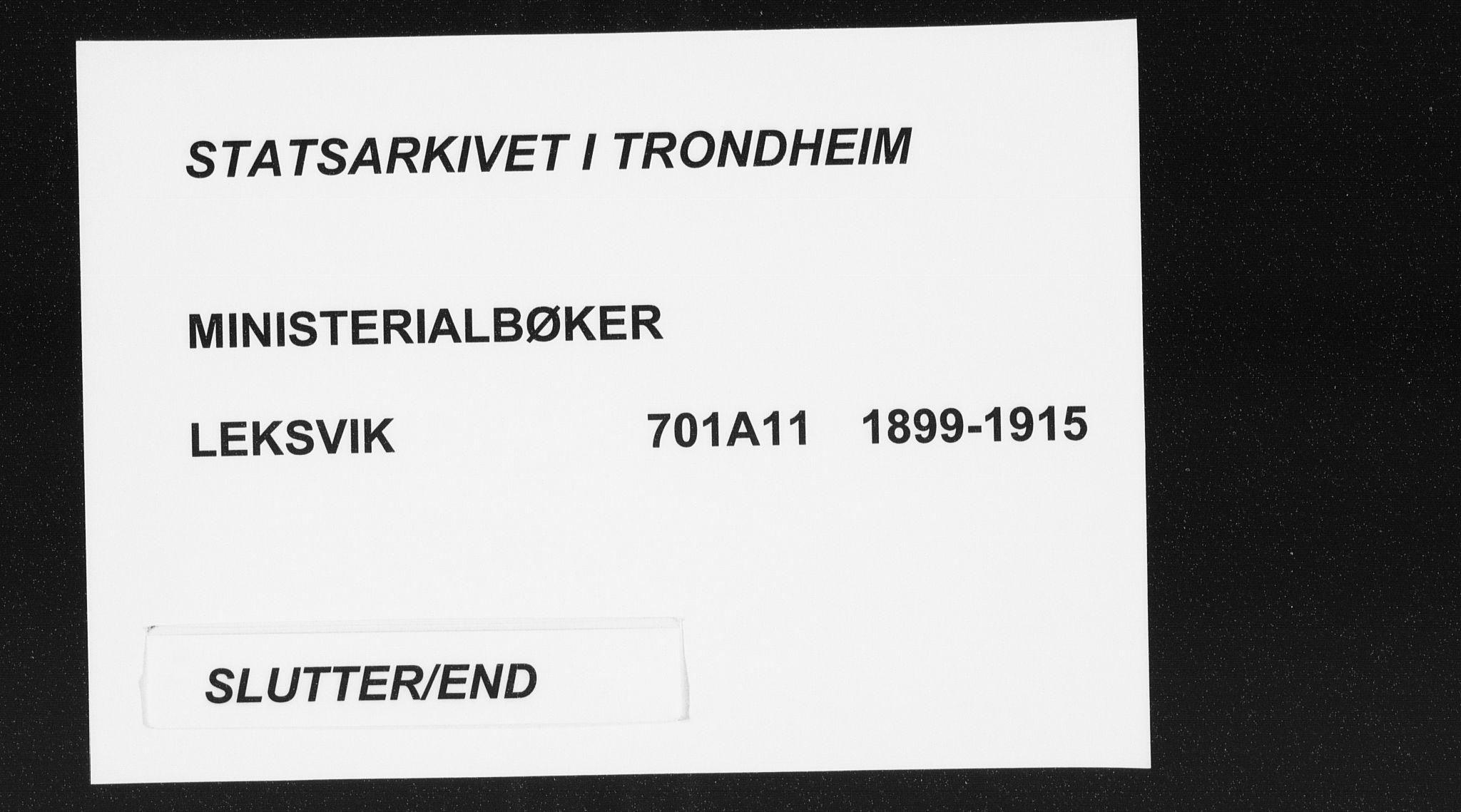 SAT, Ministerialprotokoller, klokkerbøker og fødselsregistre - Nord-Trøndelag, 701/L0011: Ministerialbok nr. 701A11, 1899-1915