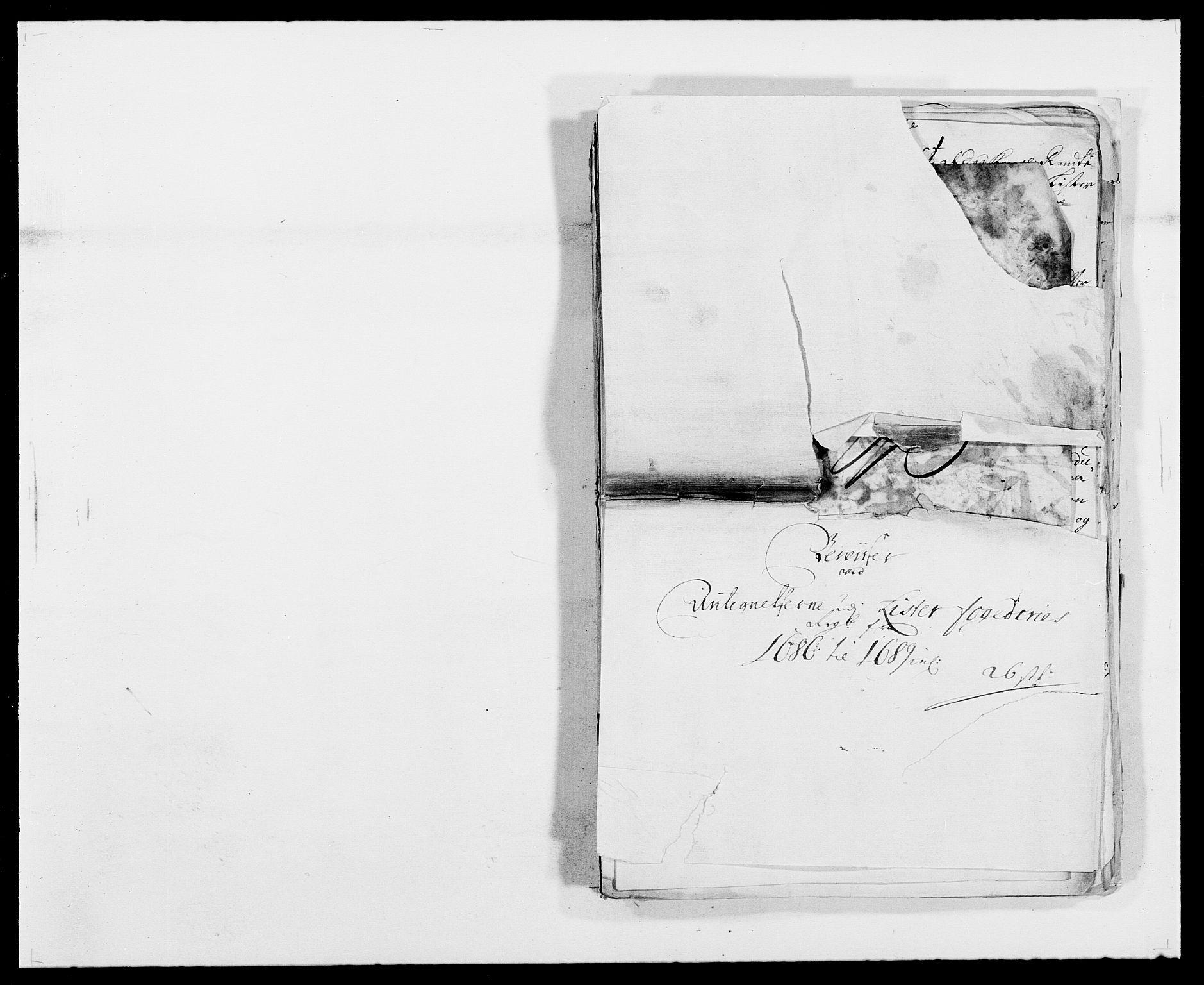 RA, Rentekammeret inntil 1814, Reviderte regnskaper, Fogderegnskap, R41/L2535: Fogderegnskap Lista, 1686-1689, s. 159