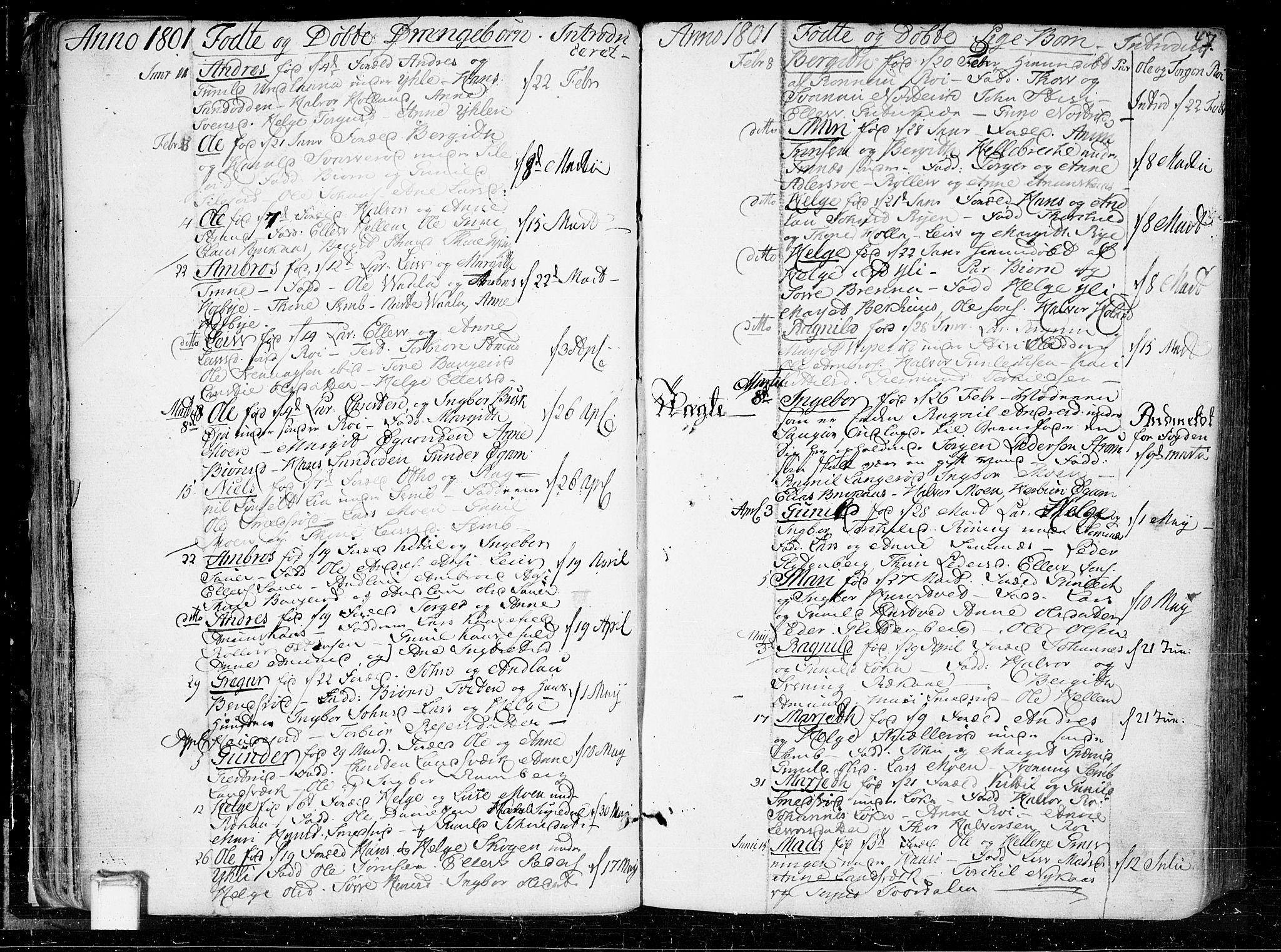SAKO, Heddal kirkebøker, F/Fa/L0004: Ministerialbok nr. I 4, 1784-1814, s. 47