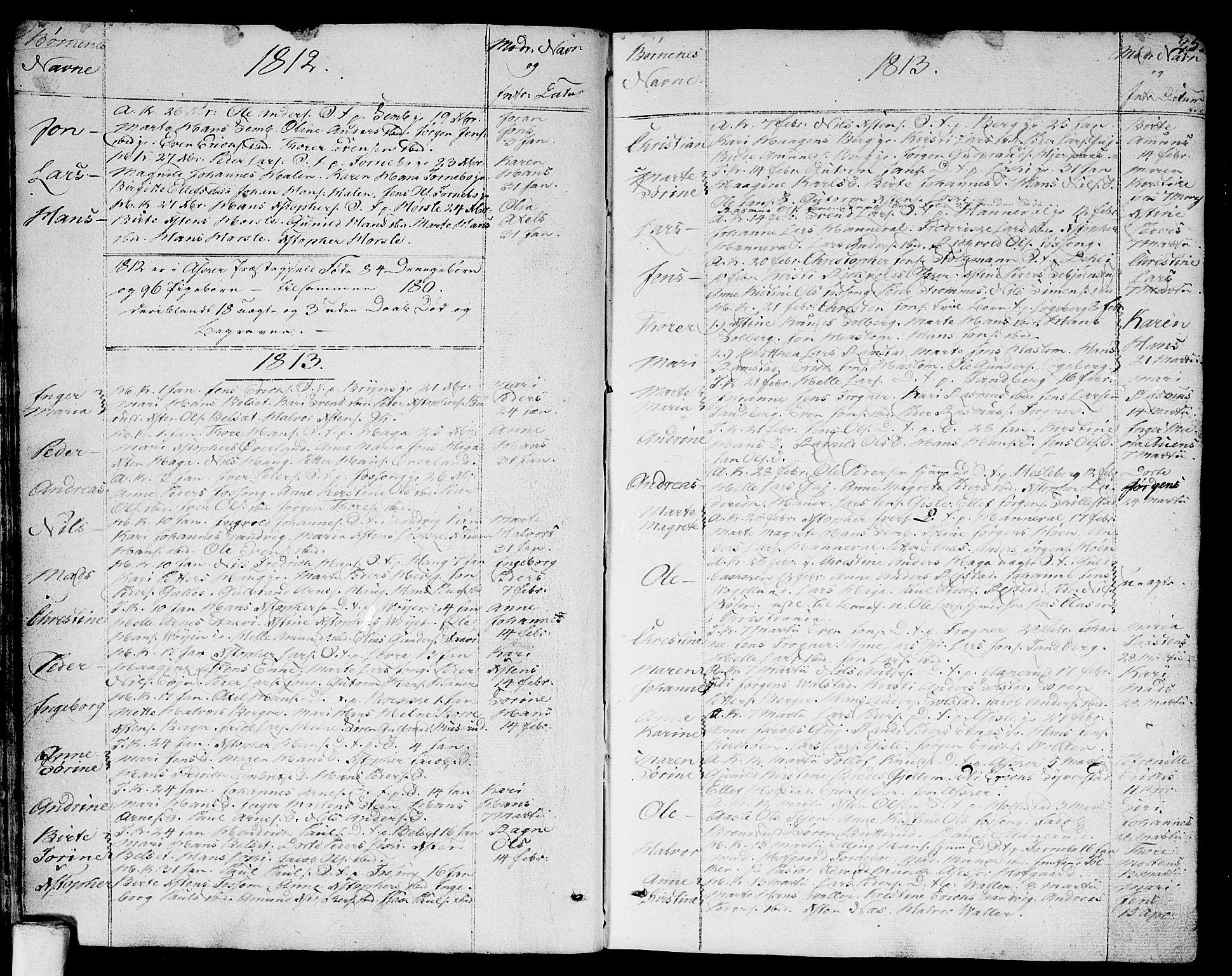 SAO, Asker prestekontor Kirkebøker, F/Fa/L0005: Ministerialbok nr. I 5, 1807-1813, s. 25