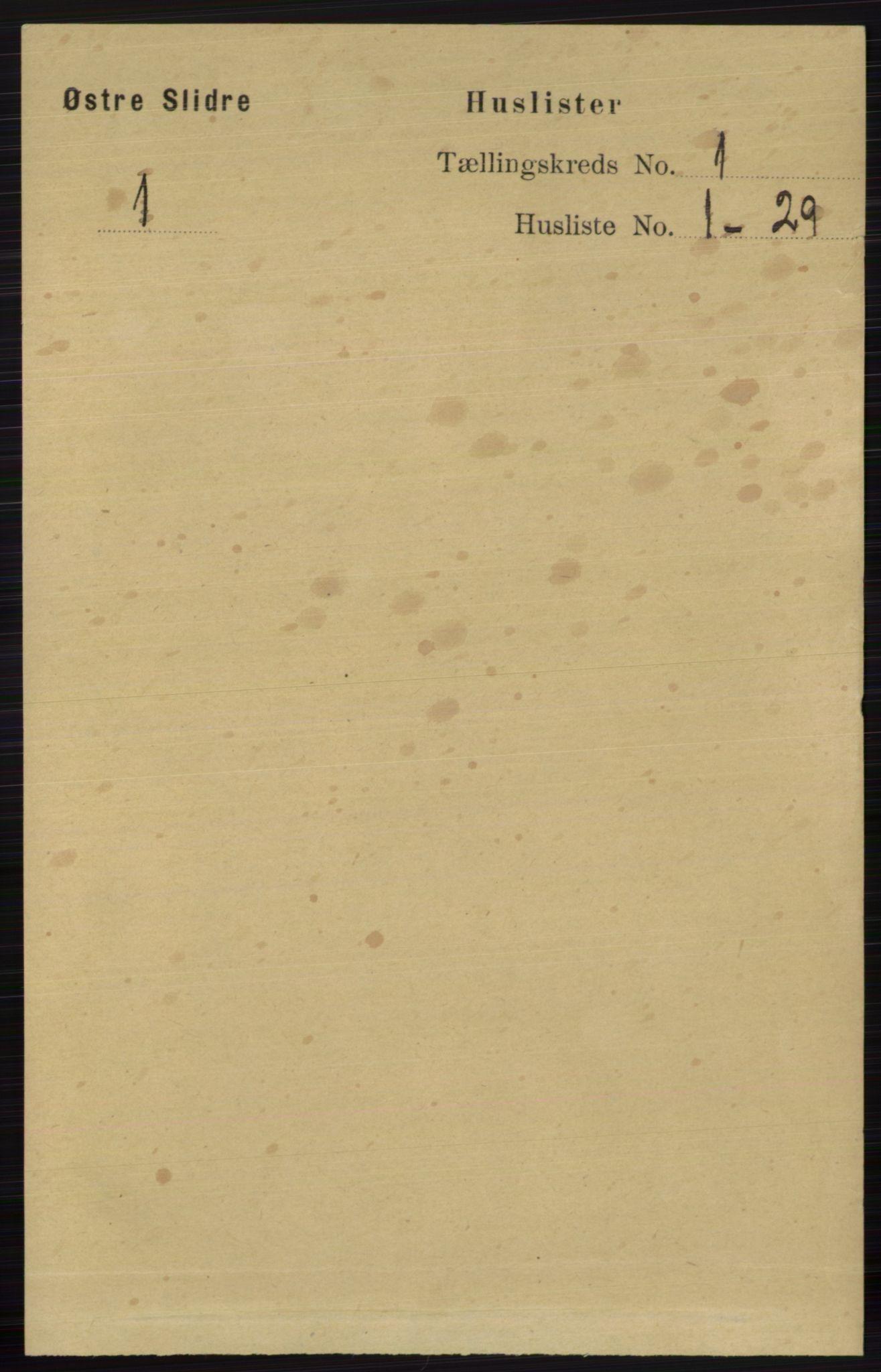 RA, Folketelling 1891 for 0544 Øystre Slidre herred, 1891, s. 26