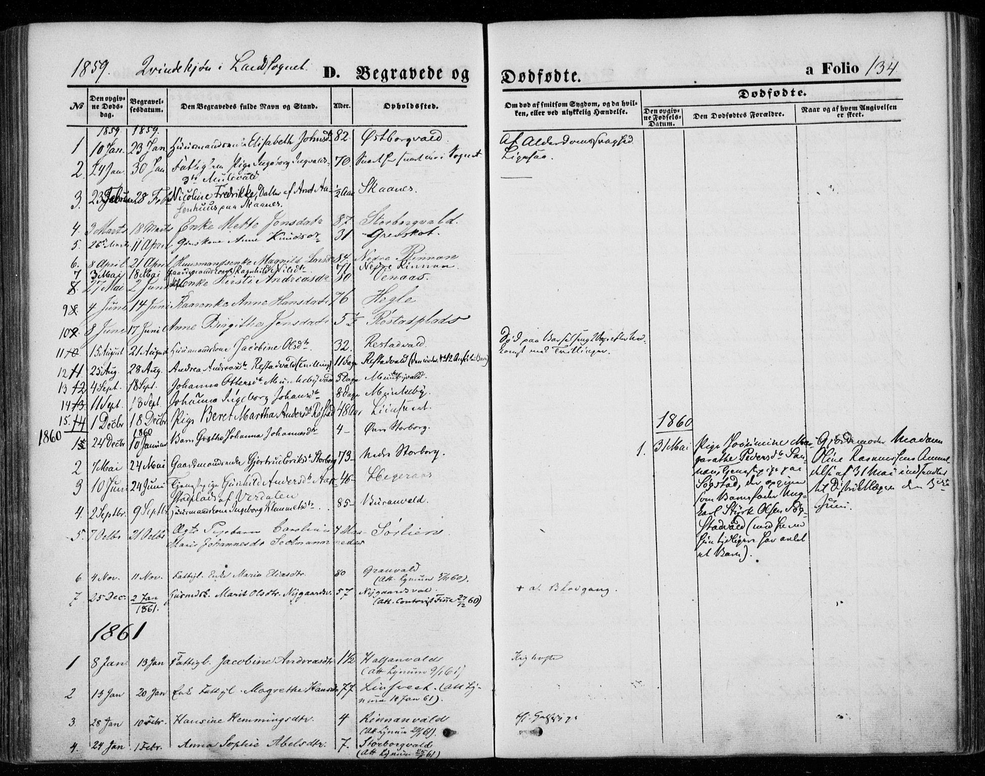 SAT, Ministerialprotokoller, klokkerbøker og fødselsregistre - Nord-Trøndelag, 720/L0184: Ministerialbok nr. 720A02 /2, 1855-1863, s. 134