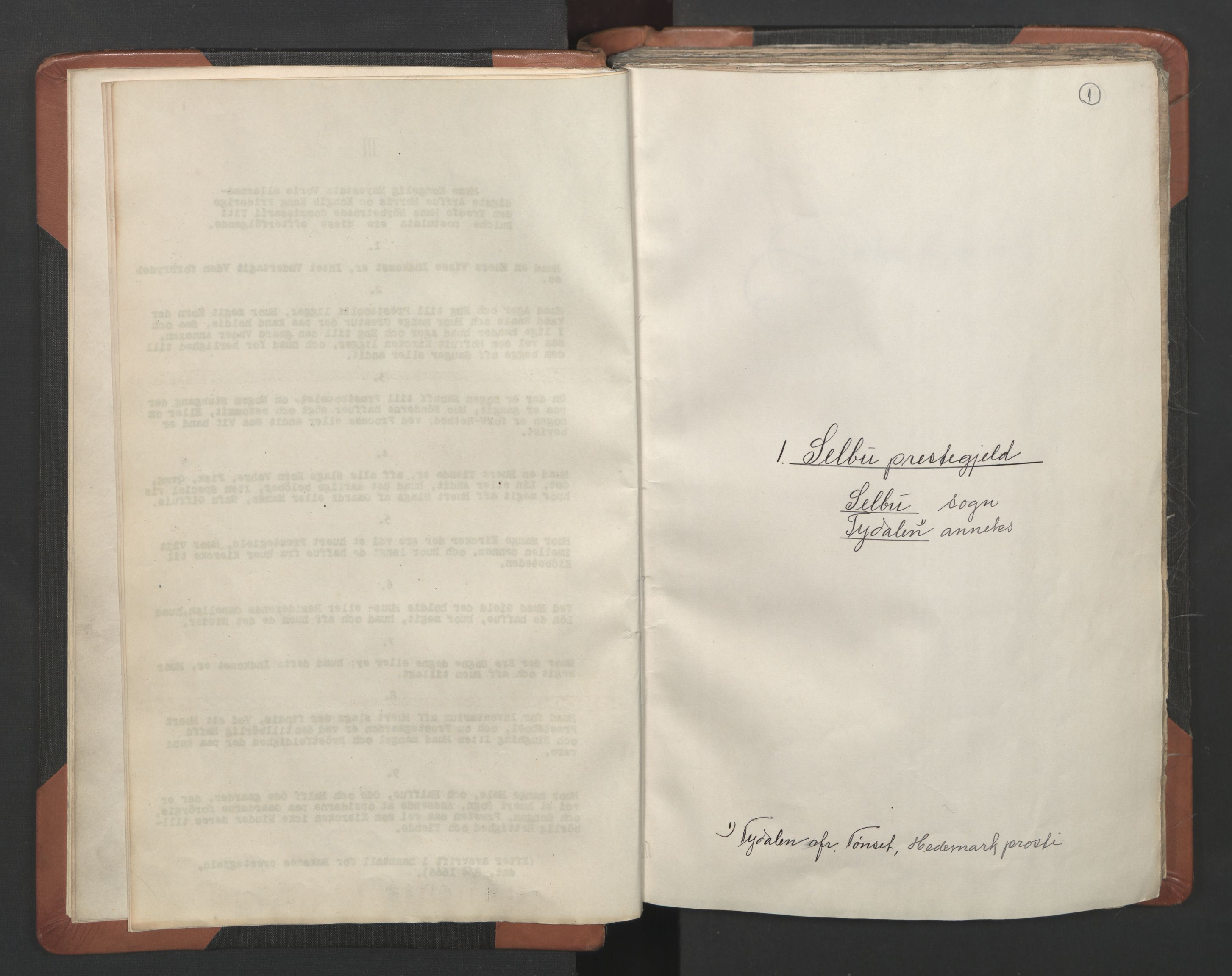 RA, Sogneprestenes manntall 1664-1666, nr. 32: Innherad prosti, 1664-1666, s. 1