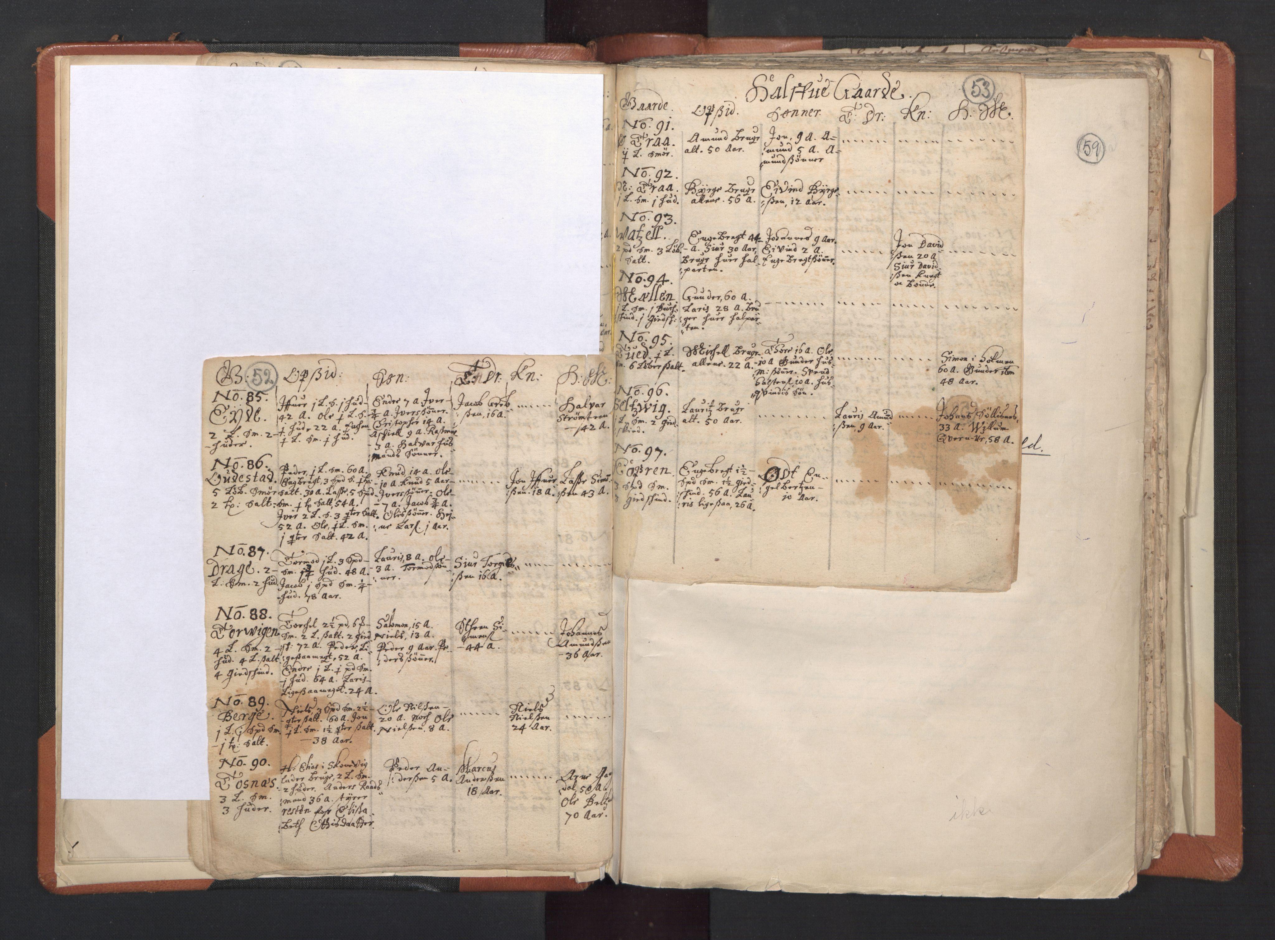 RA, Sogneprestenes manntall 1664-1666, nr. 20: Sunnhordland prosti, 1664-1666, s. 52-53