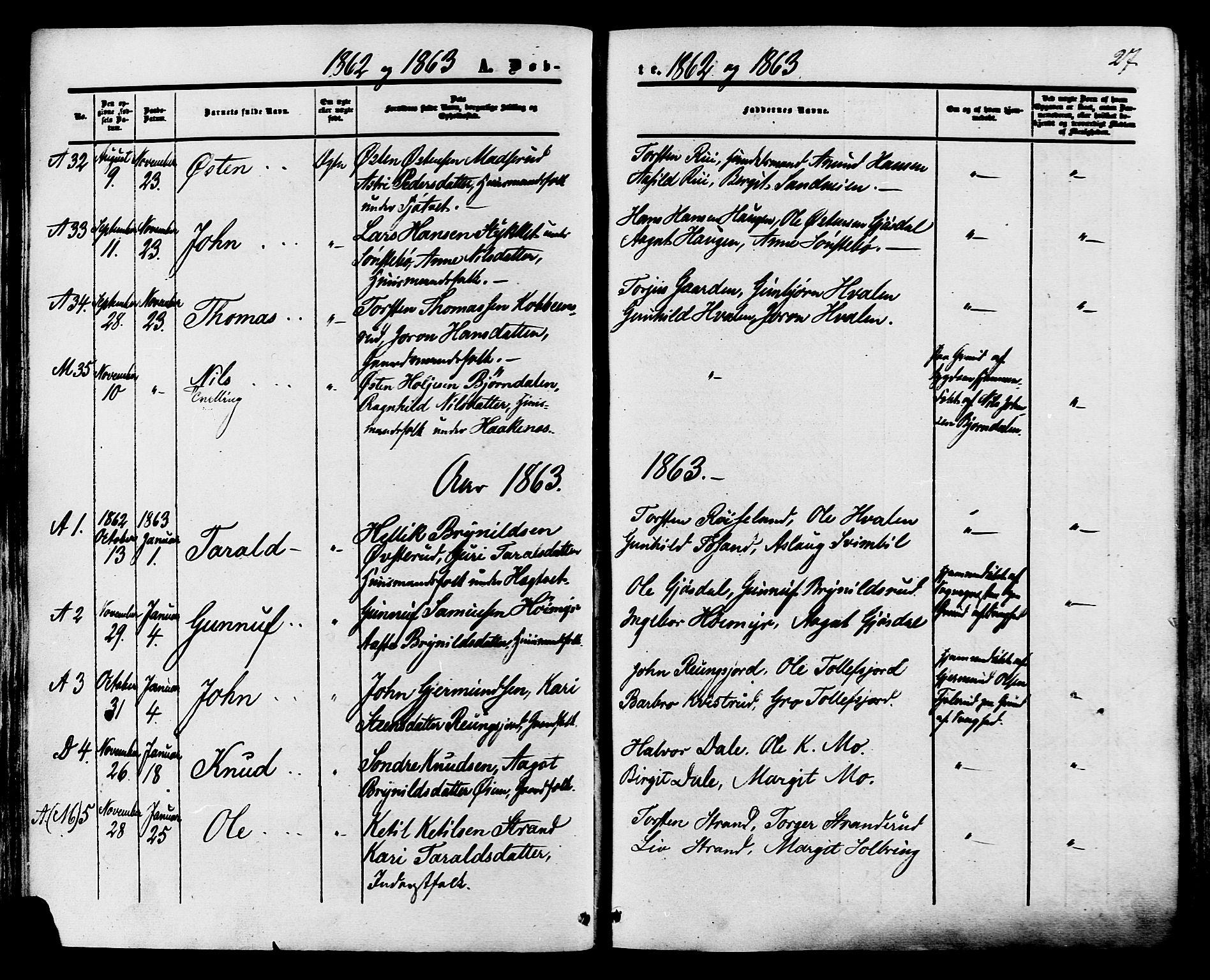 SAKO, Tinn kirkebøker, F/Fa/L0006: Ministerialbok nr. I 6, 1857-1878, s. 27