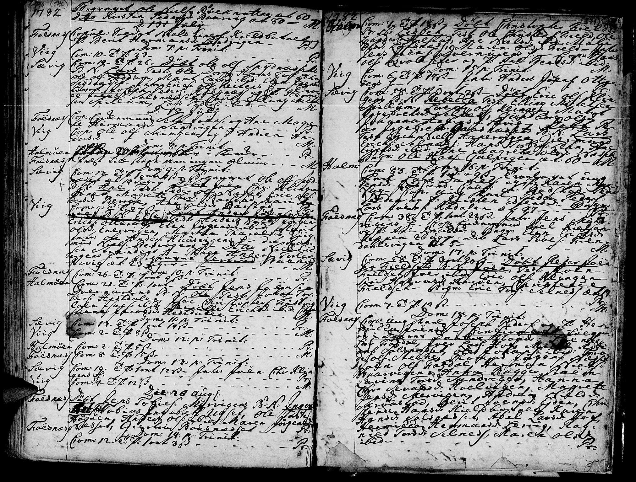 SAT, Ministerialprotokoller, klokkerbøker og fødselsregistre - Nord-Trøndelag, 773/L0607: Ministerialbok nr. 773A01, 1751-1783, s. 540-541