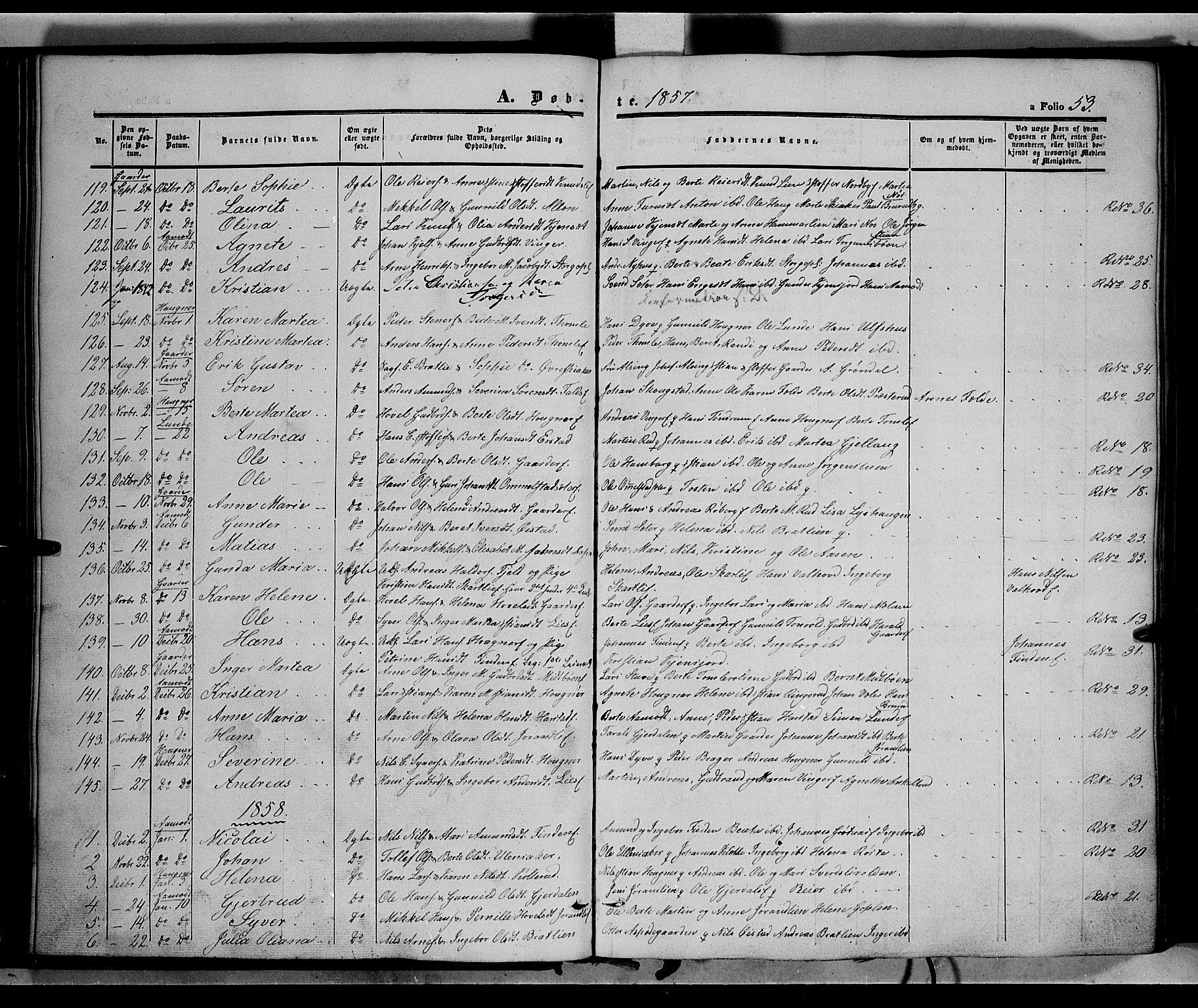 SAH, Land prestekontor, Ministerialbok nr. 10, 1847-1859, s. 53