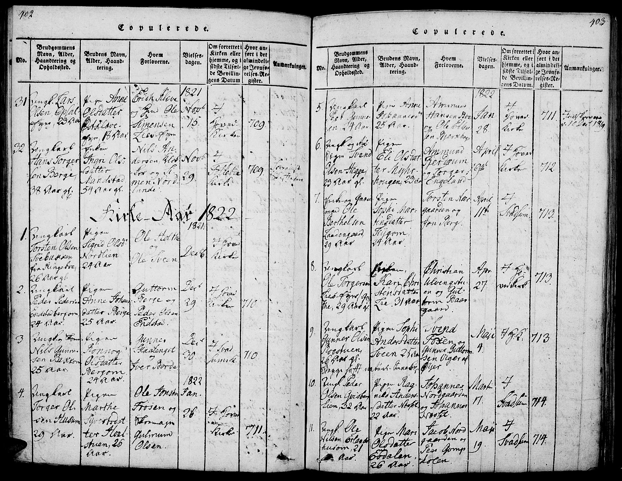 SAH, Gausdal prestekontor, Ministerialbok nr. 5, 1817-1829, s. 402-403