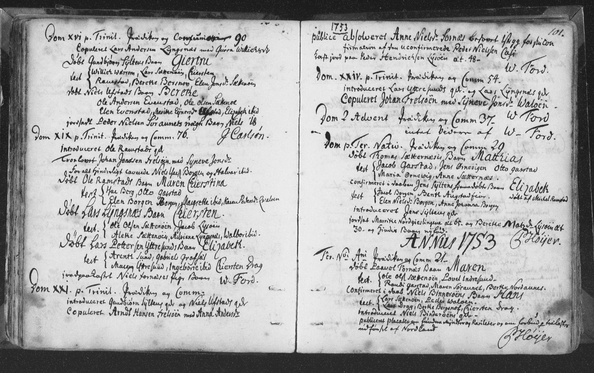 SAT, Ministerialprotokoller, klokkerbøker og fødselsregistre - Nord-Trøndelag, 786/L0685: Ministerialbok nr. 786A01, 1710-1798, s. 101
