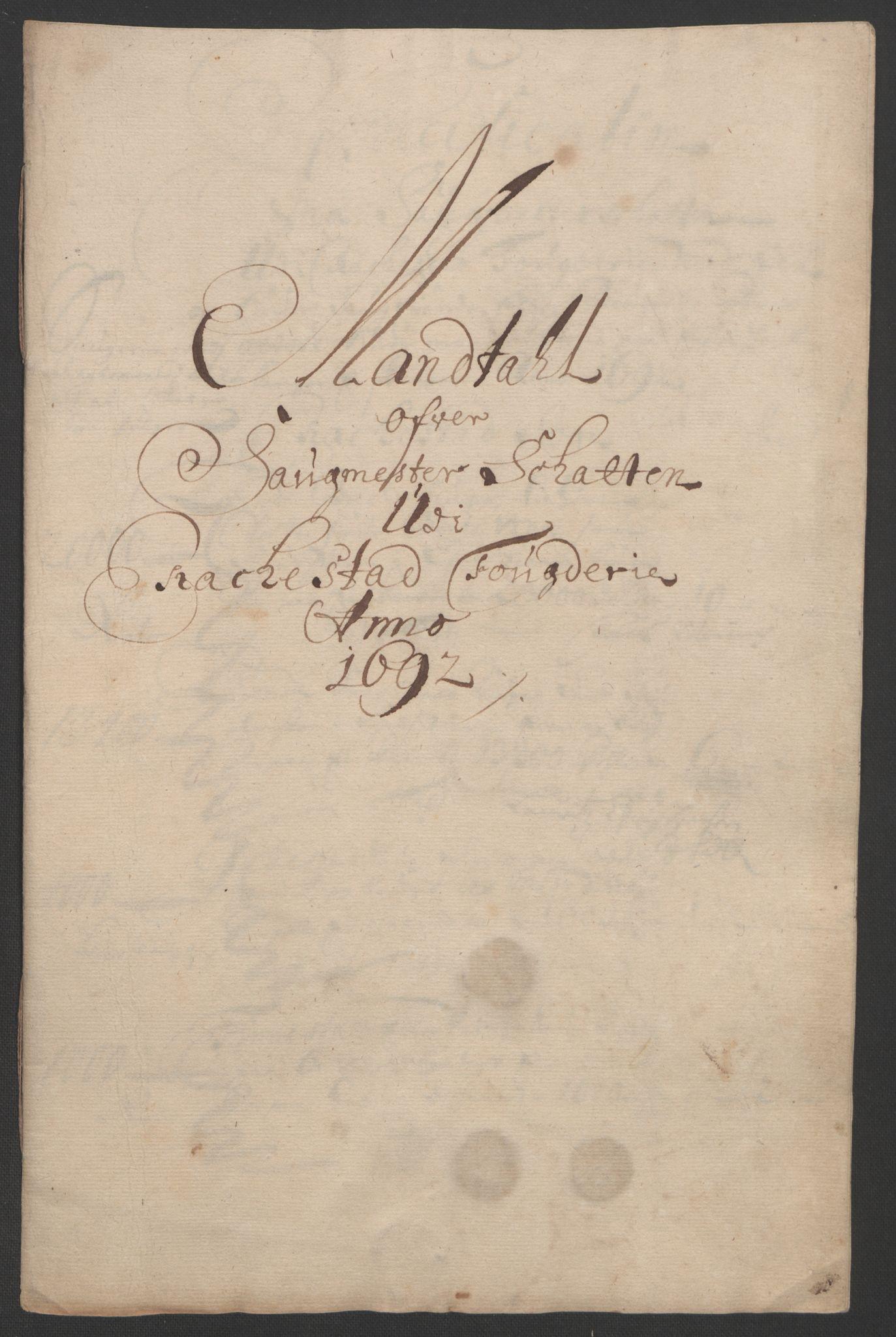 RA, Rentekammeret inntil 1814, Reviderte regnskaper, Fogderegnskap, R05/L0278: Fogderegnskap Rakkestad, 1691-1693, s. 283