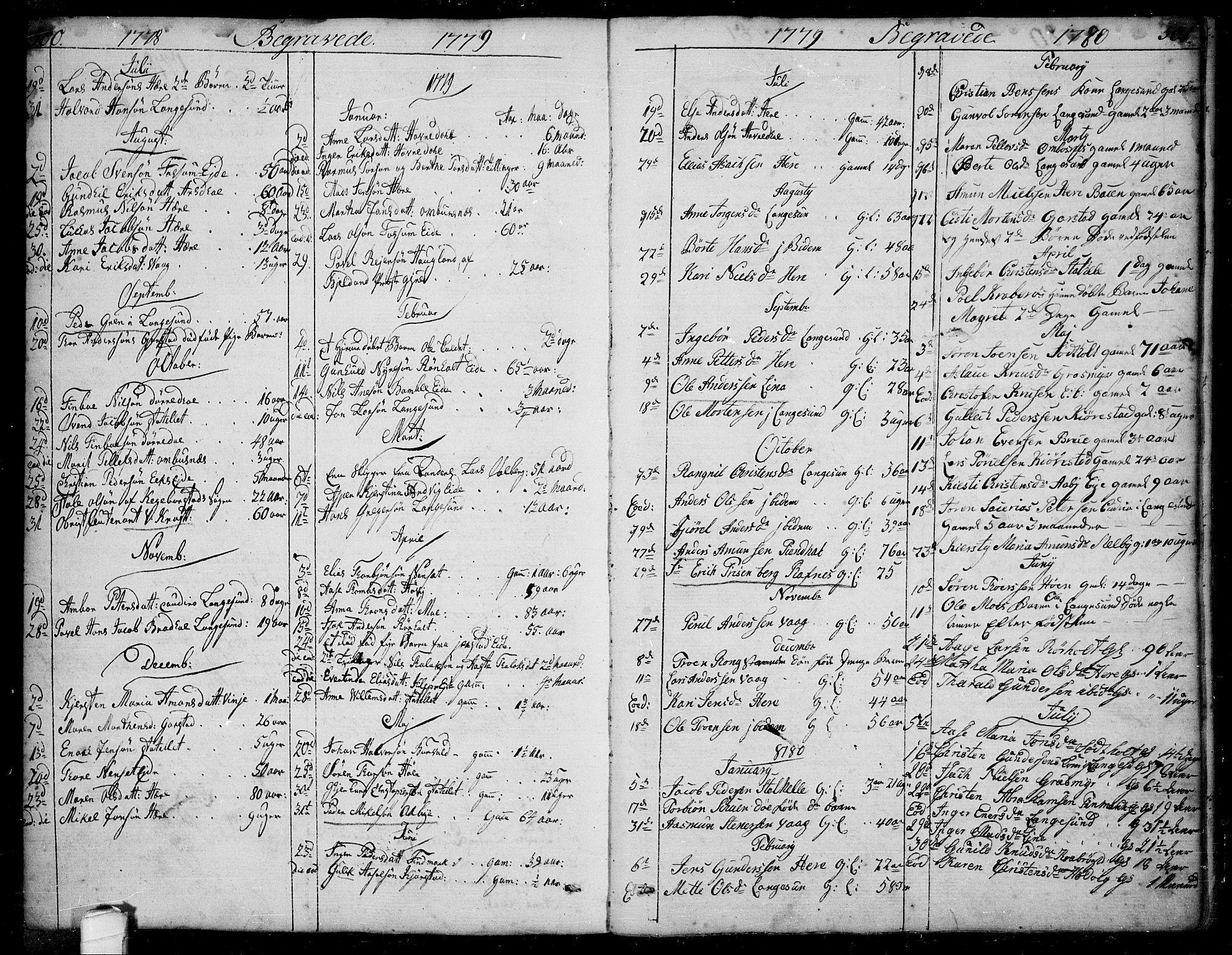 SAKO, Bamble kirkebøker, F/Fa/L0002: Ministerialbok nr. I 2, 1775-1814, s. 500-501