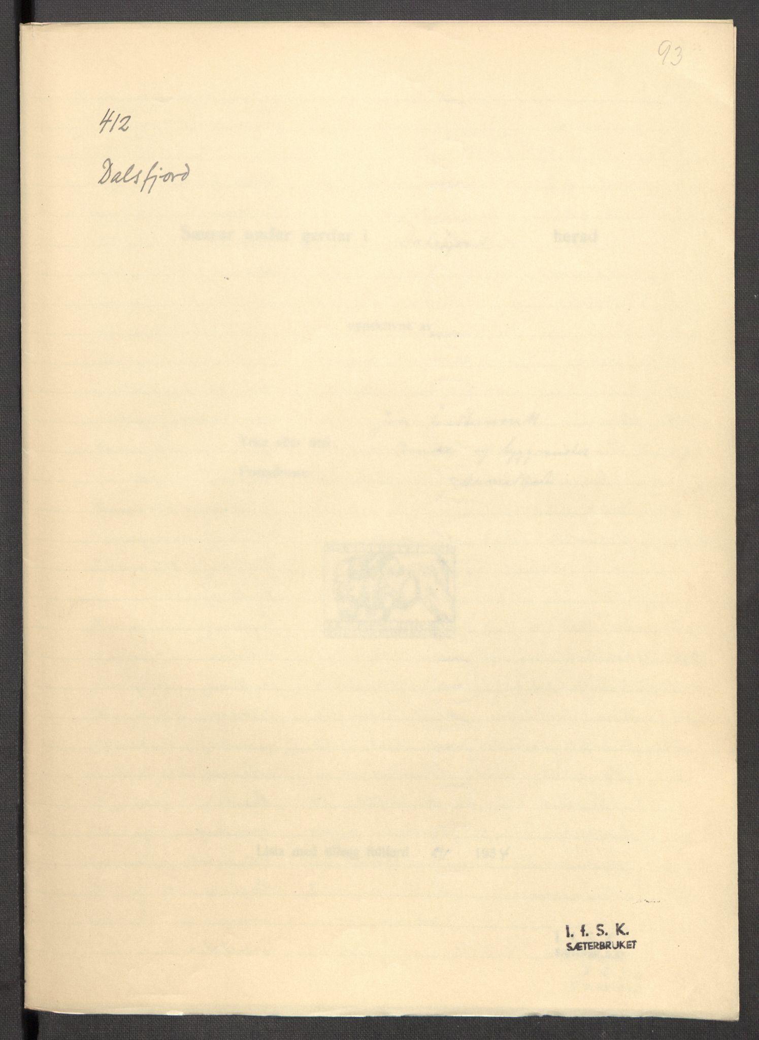 RA, Instituttet for sammenlignende kulturforskning, F/Fc/L0012: Eske B12:, 1934-1936, s. 93