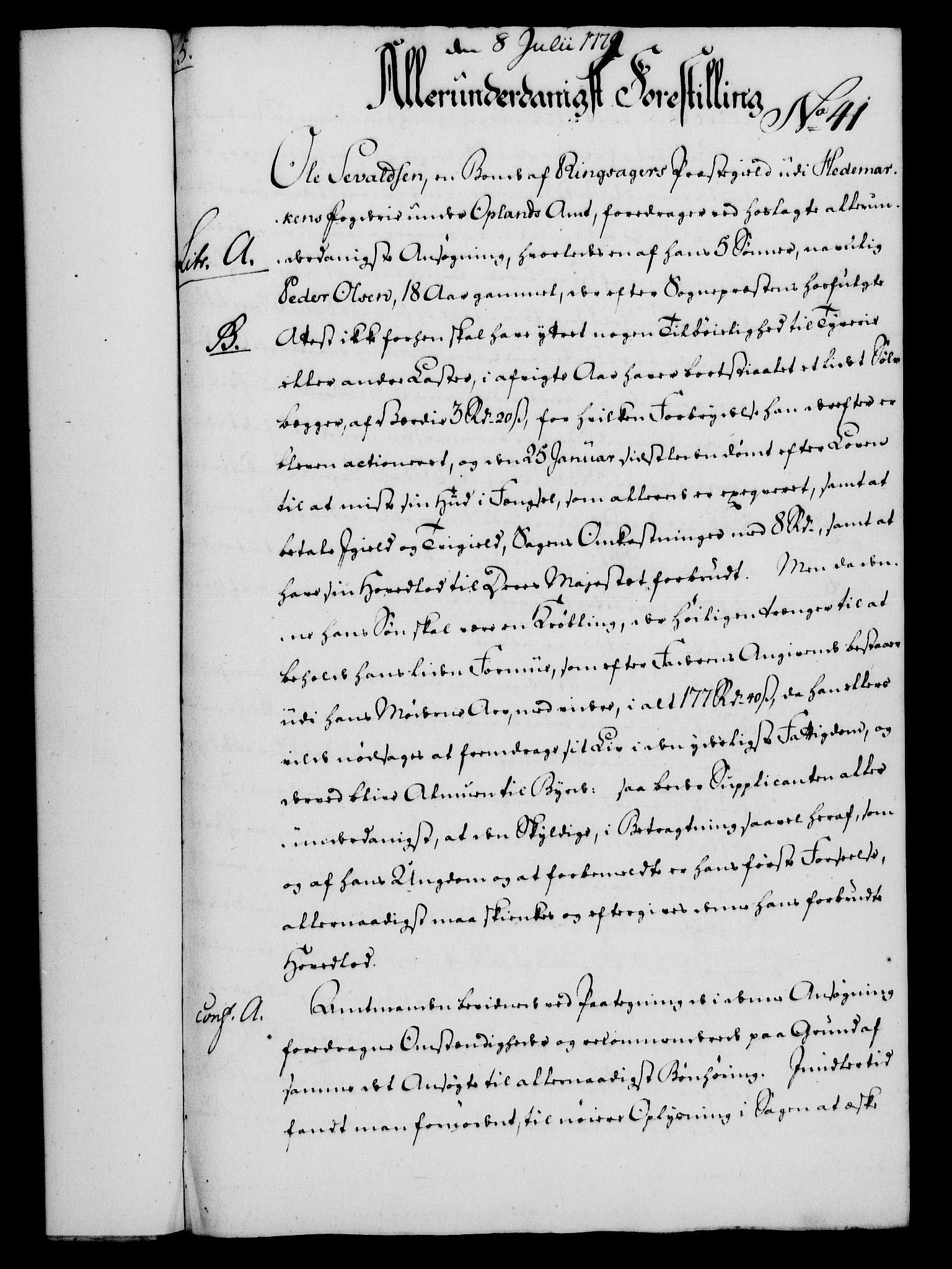 RA, Rentekammeret, Kammerkanselliet, G/Gf/Gfa/L0061: Norsk relasjons- og resolusjonsprotokoll (merket RK 52.61), 1779, s. 292