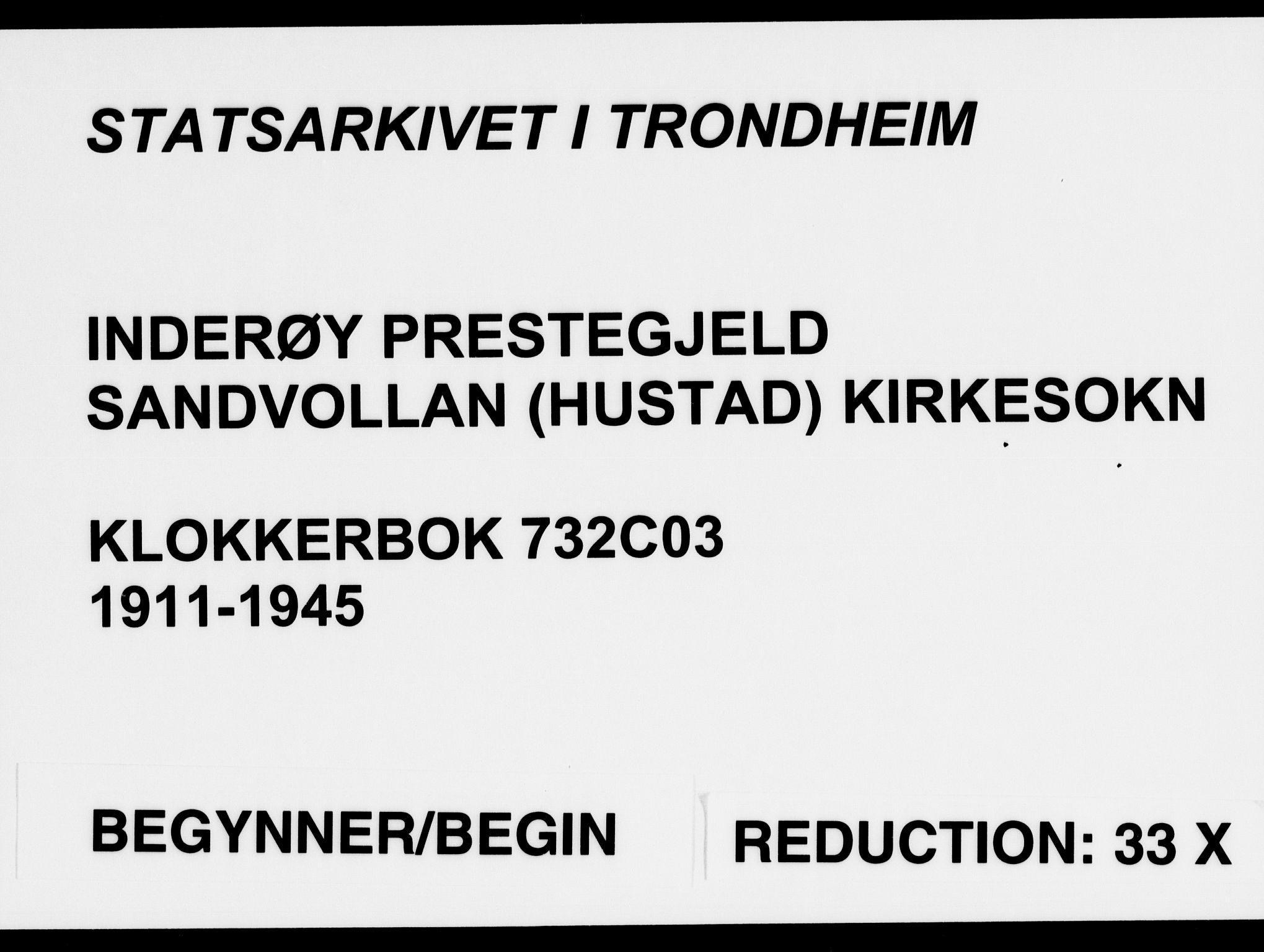 SAT, Ministerialprotokoller, klokkerbøker og fødselsregistre - Nord-Trøndelag, 732/L0319: Klokkerbok nr. 732C03, 1911-1945
