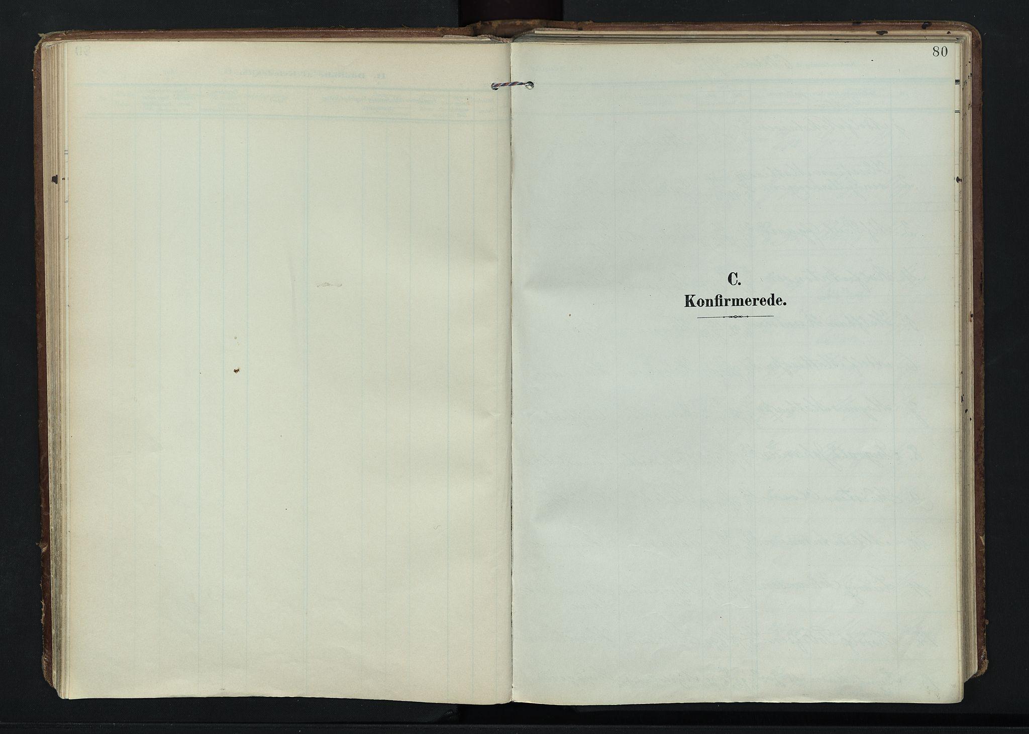 SAH, Vardal prestekontor, H/Ha/Haa/L0020: Ministerialbok nr. 20, 1907-1921, s. 80