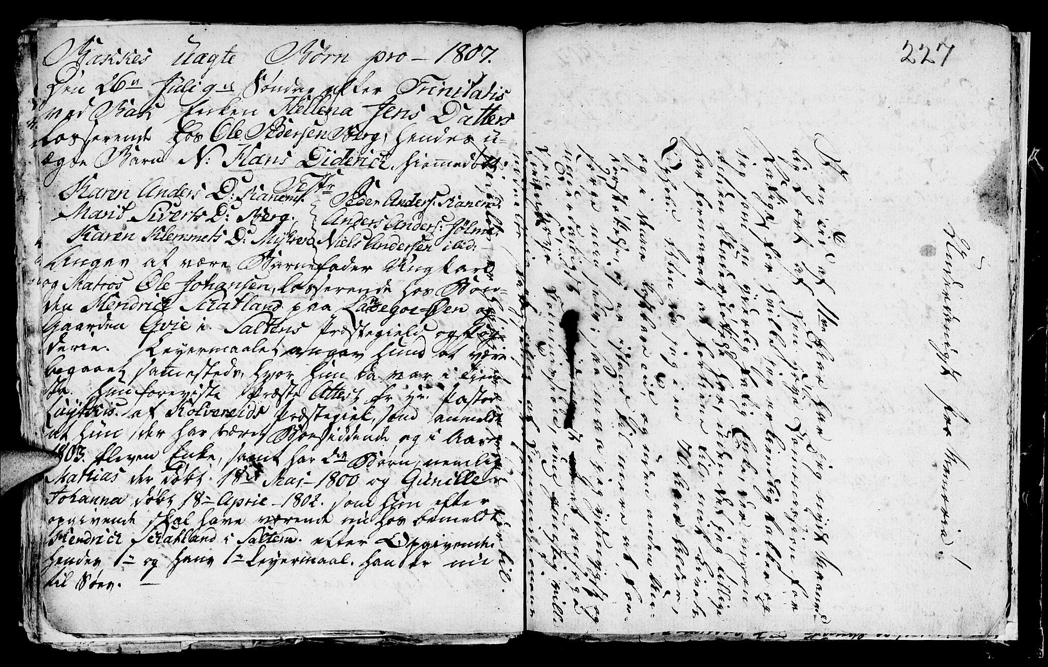 SAT, Ministerialprotokoller, klokkerbøker og fødselsregistre - Sør-Trøndelag, 604/L0218: Klokkerbok nr. 604C01, 1754-1819, s. 227