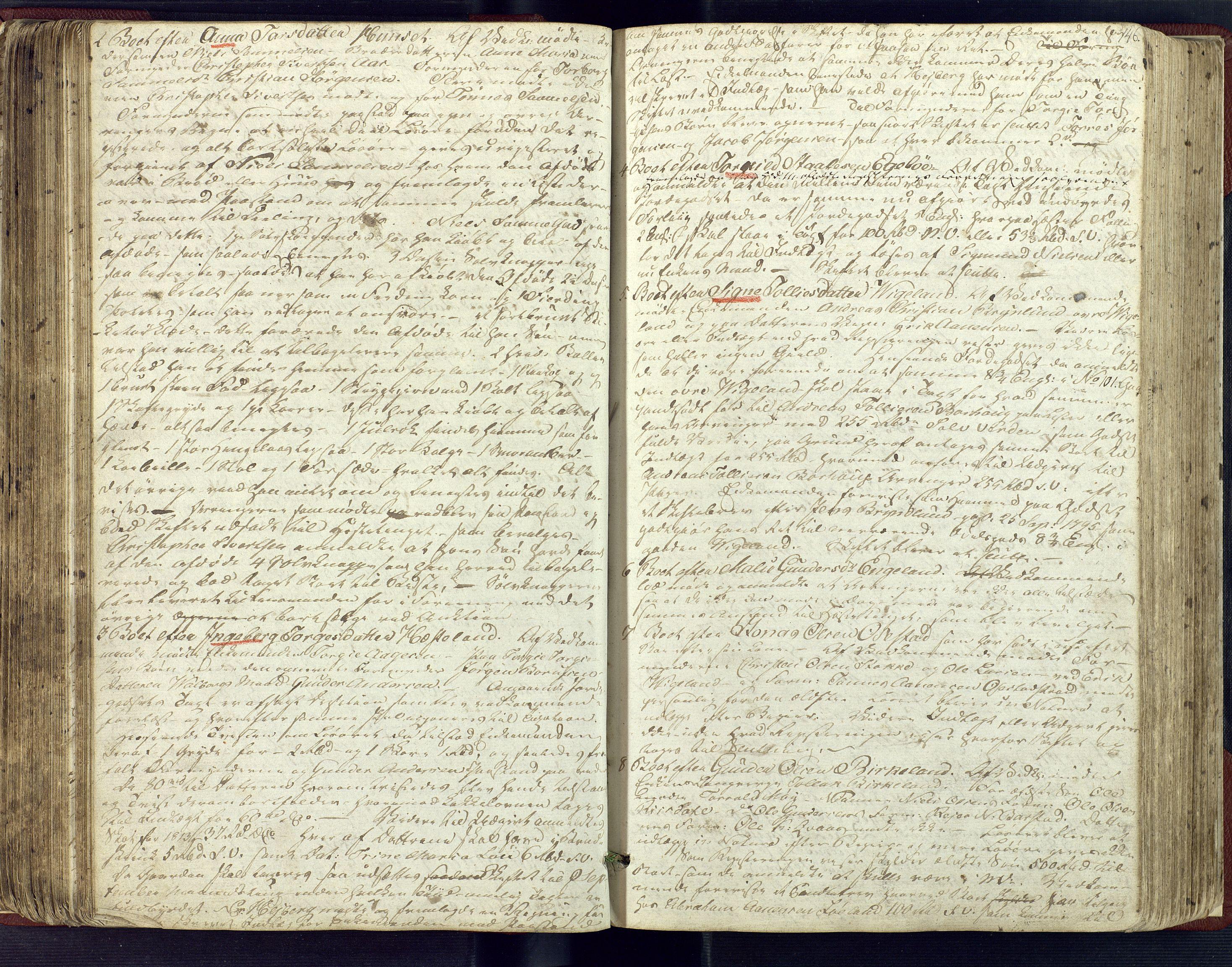 SAK, Lyngdal sorenskriveri, H/Hc/L0866: Skiftebehandlingsprotokoll nr. 1, 1810-1822, s. 145b-146a