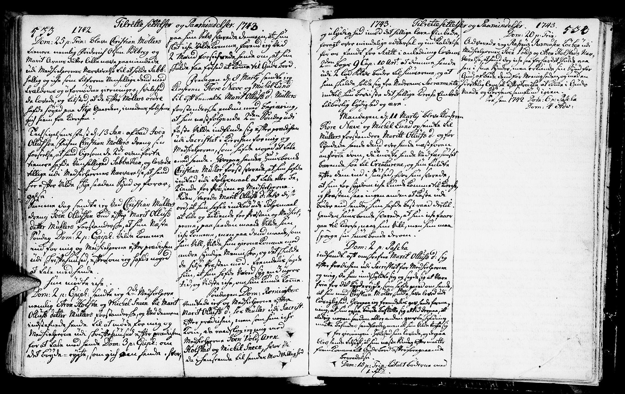 SAT, Ministerialprotokoller, klokkerbøker og fødselsregistre - Sør-Trøndelag, 672/L0850: Ministerialbok nr. 672A03, 1725-1751, s. 533-534
