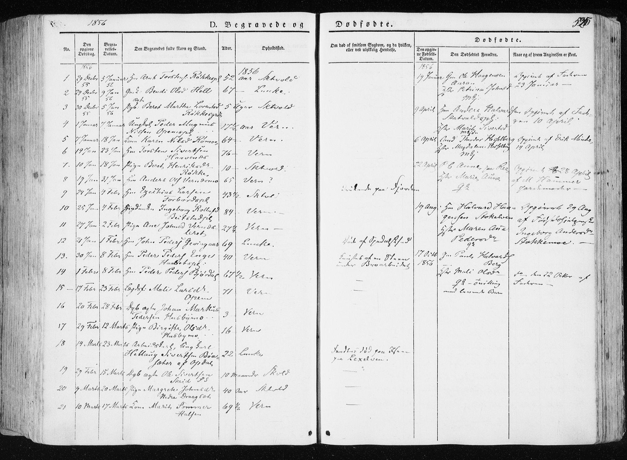 SAT, Ministerialprotokoller, klokkerbøker og fødselsregistre - Nord-Trøndelag, 709/L0074: Ministerialbok nr. 709A14, 1845-1858, s. 526