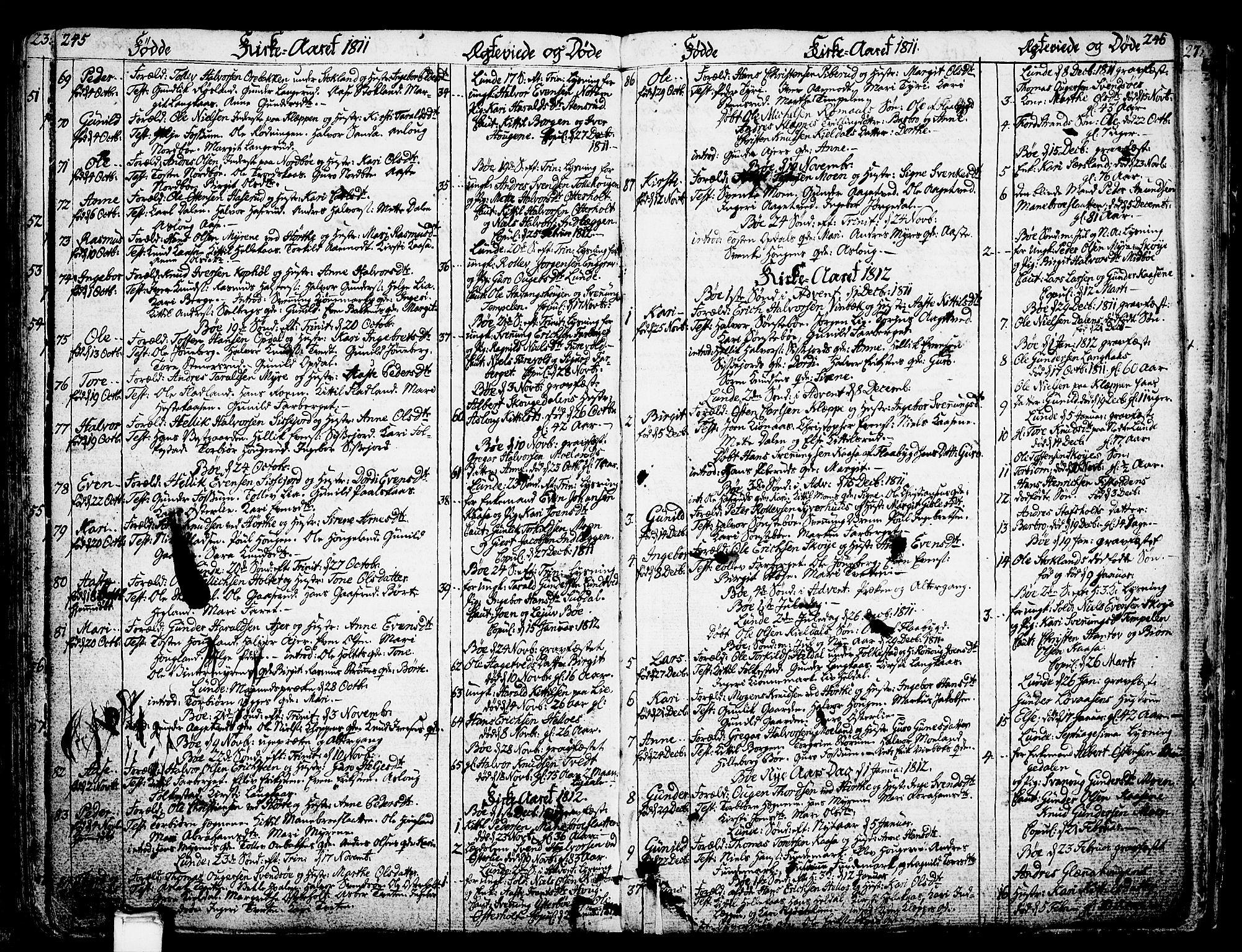 SAKO, Bø kirkebøker, F/Fa/L0005: Ministerialbok nr. 5, 1785-1815, s. 245-246