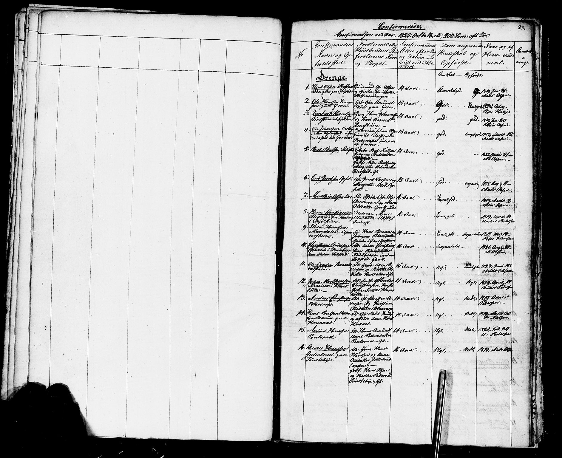 SAH, Vestre Toten prestekontor, Ministerialbok nr. 1, 1825-1826, s. 33