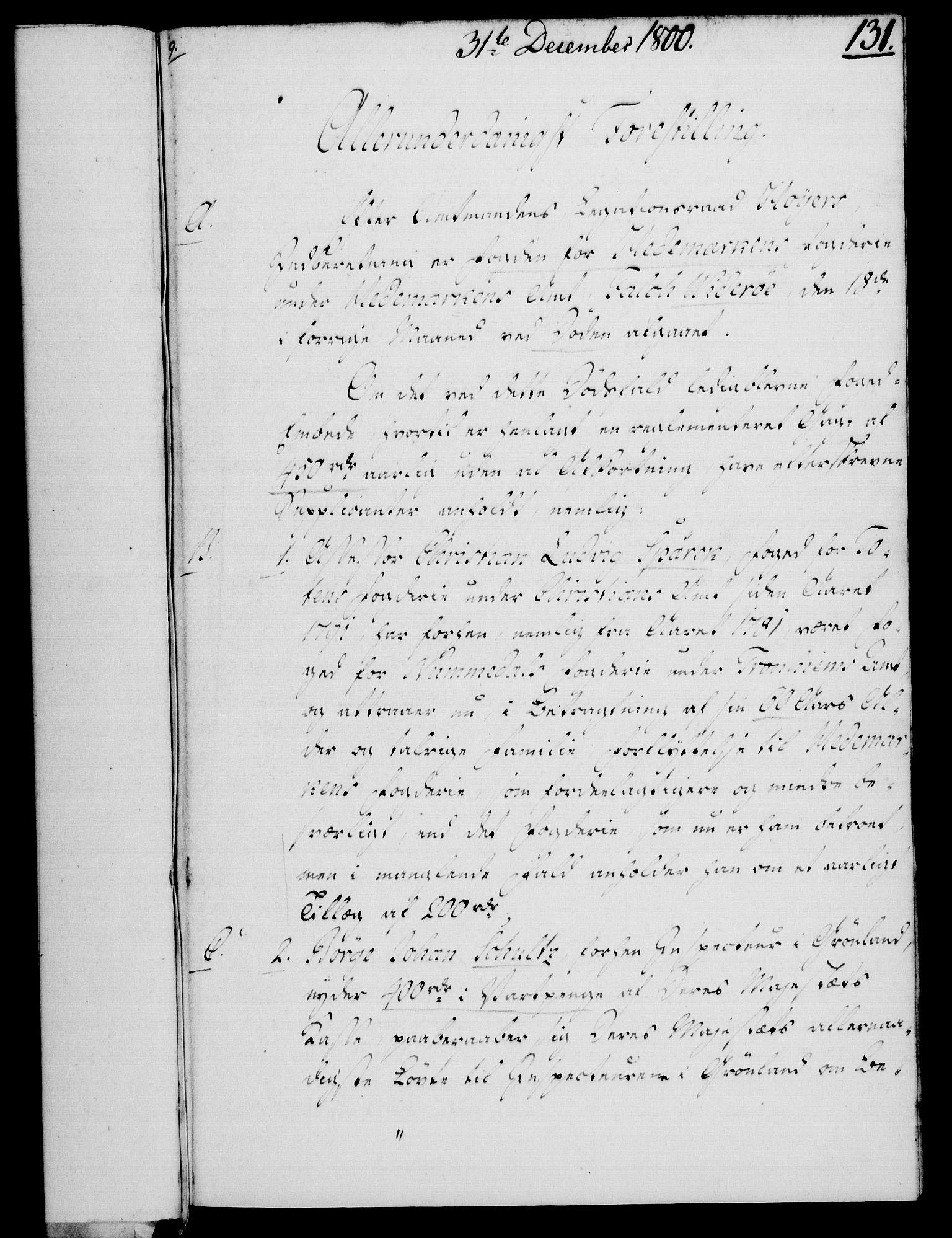 RA, Rentekammeret, Kammerkanselliet, G/Gf/Gfa/L0082: Norsk relasjons- og resolusjonsprotokoll (merket RK 52.82), 1800, s. 951