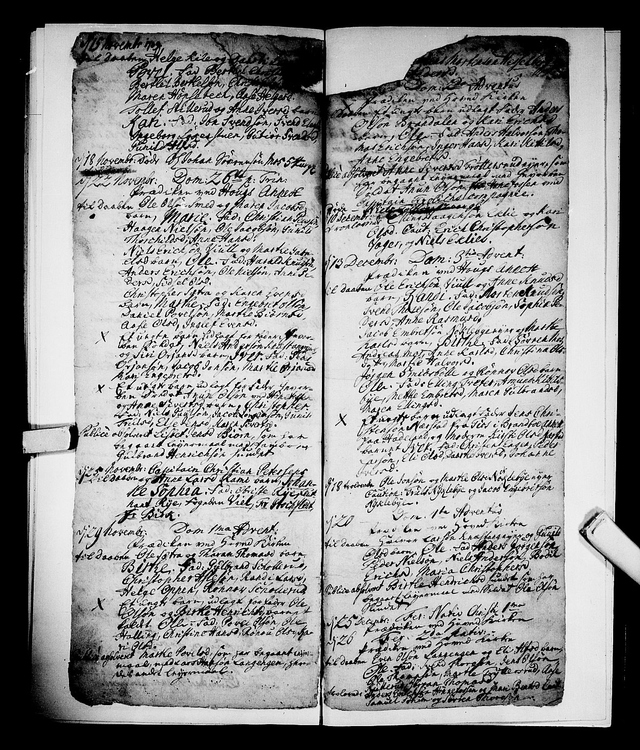 SAKO, Norderhov kirkebøker, F/Fa/L0002b: Ministerialbok nr. 2B, 1726-1739, s. 594-595