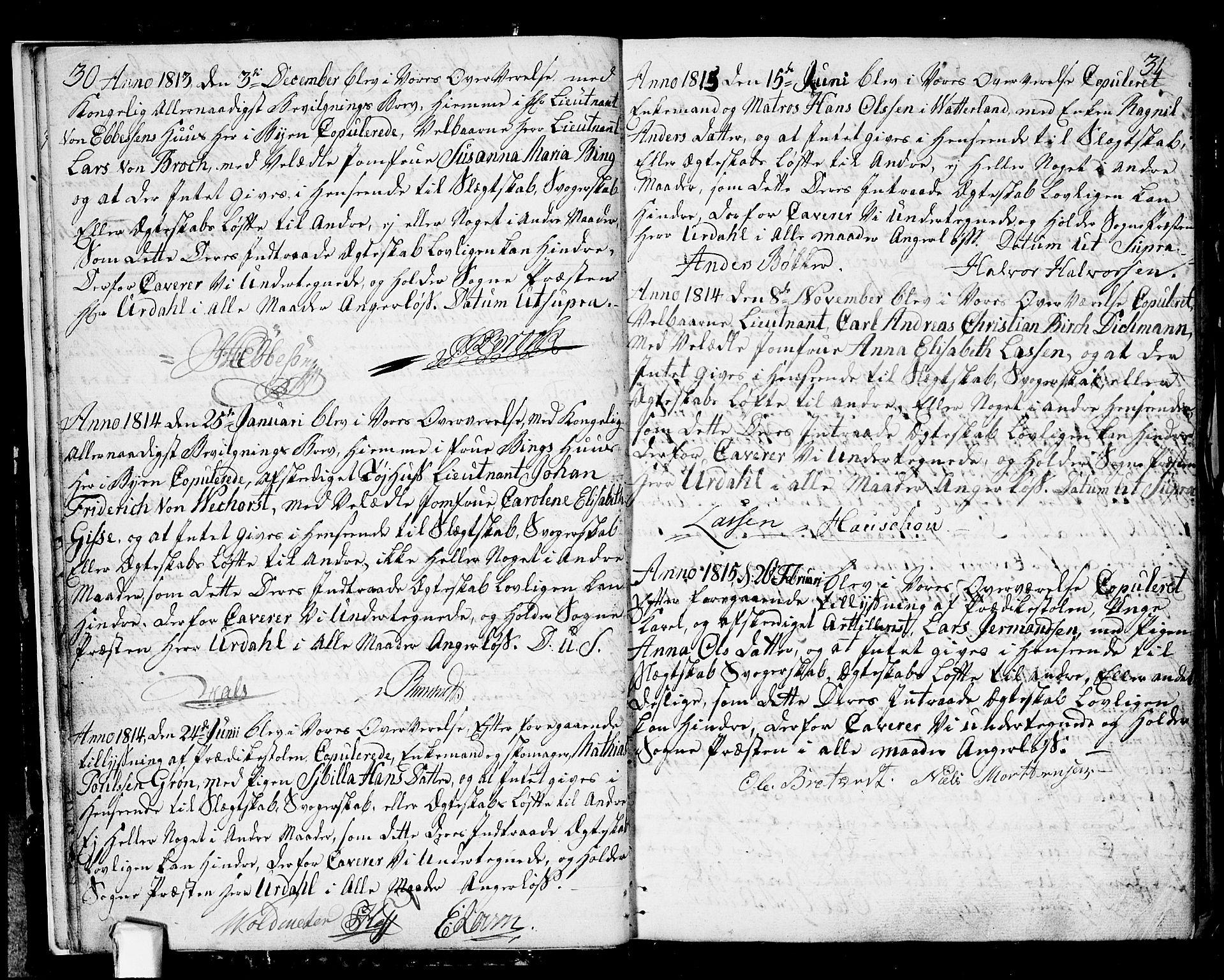 SAO, Fredrikstad prestekontor Kirkebøker, F/Fa/L0003: Ministerialbok nr. 3, 1805-1816, s. 30-31