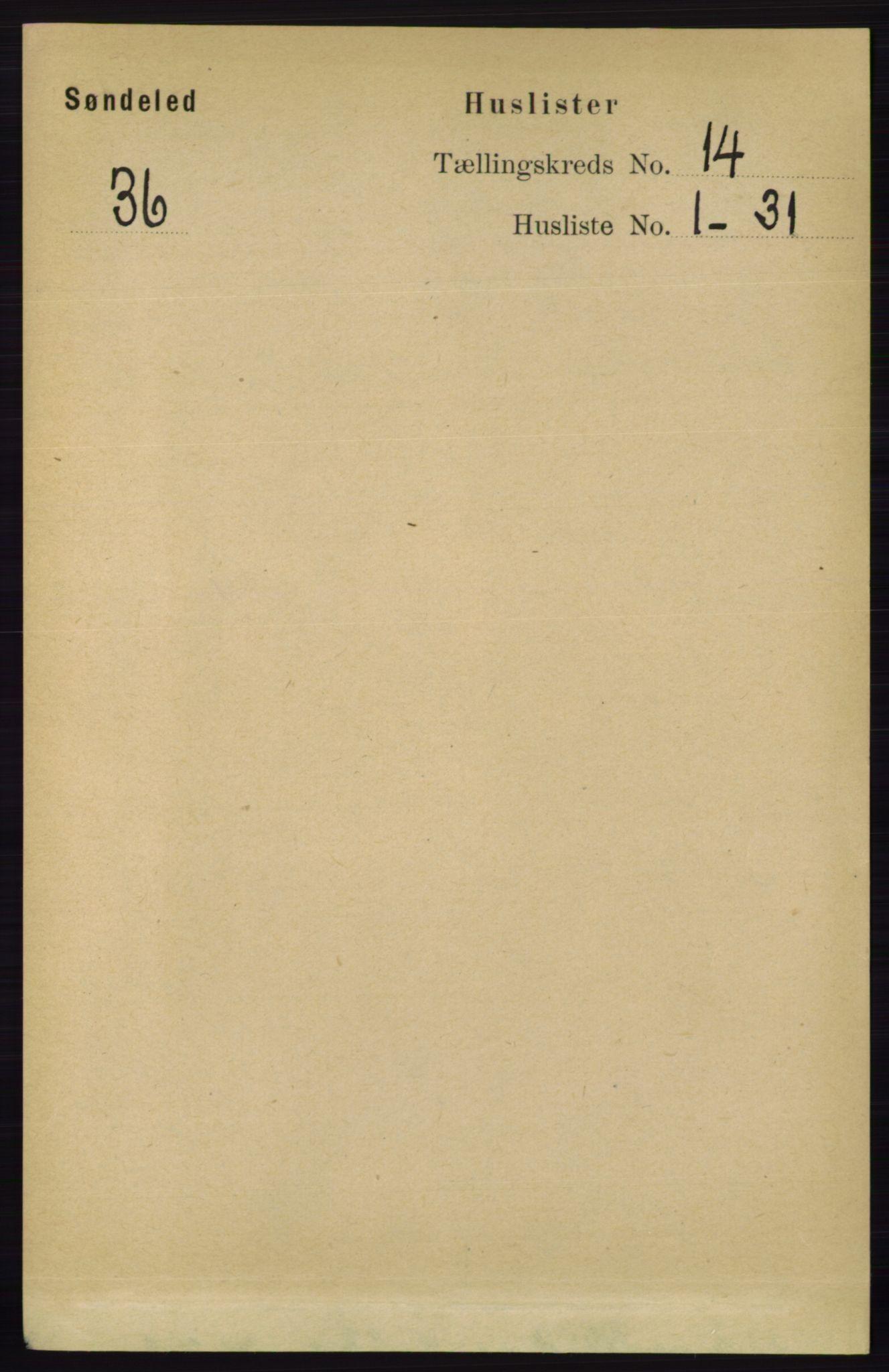 RA, Folketelling 1891 for 0913 Søndeled herred, 1891, s. 4097