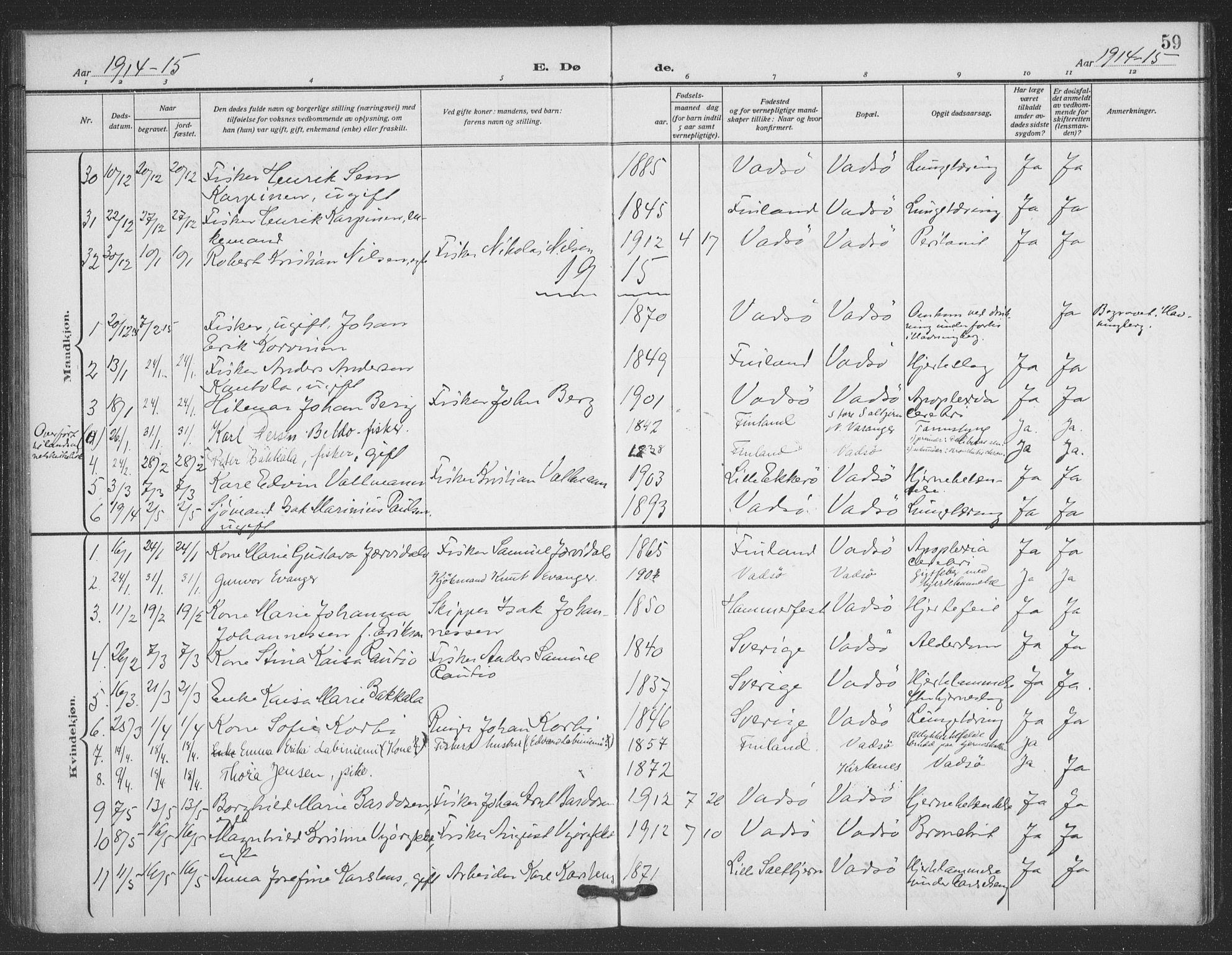 SATØ, Vadsø sokneprestkontor, H/Ha/L0008kirke: Ministerialbok nr. 8, 1912-1930, s. 59