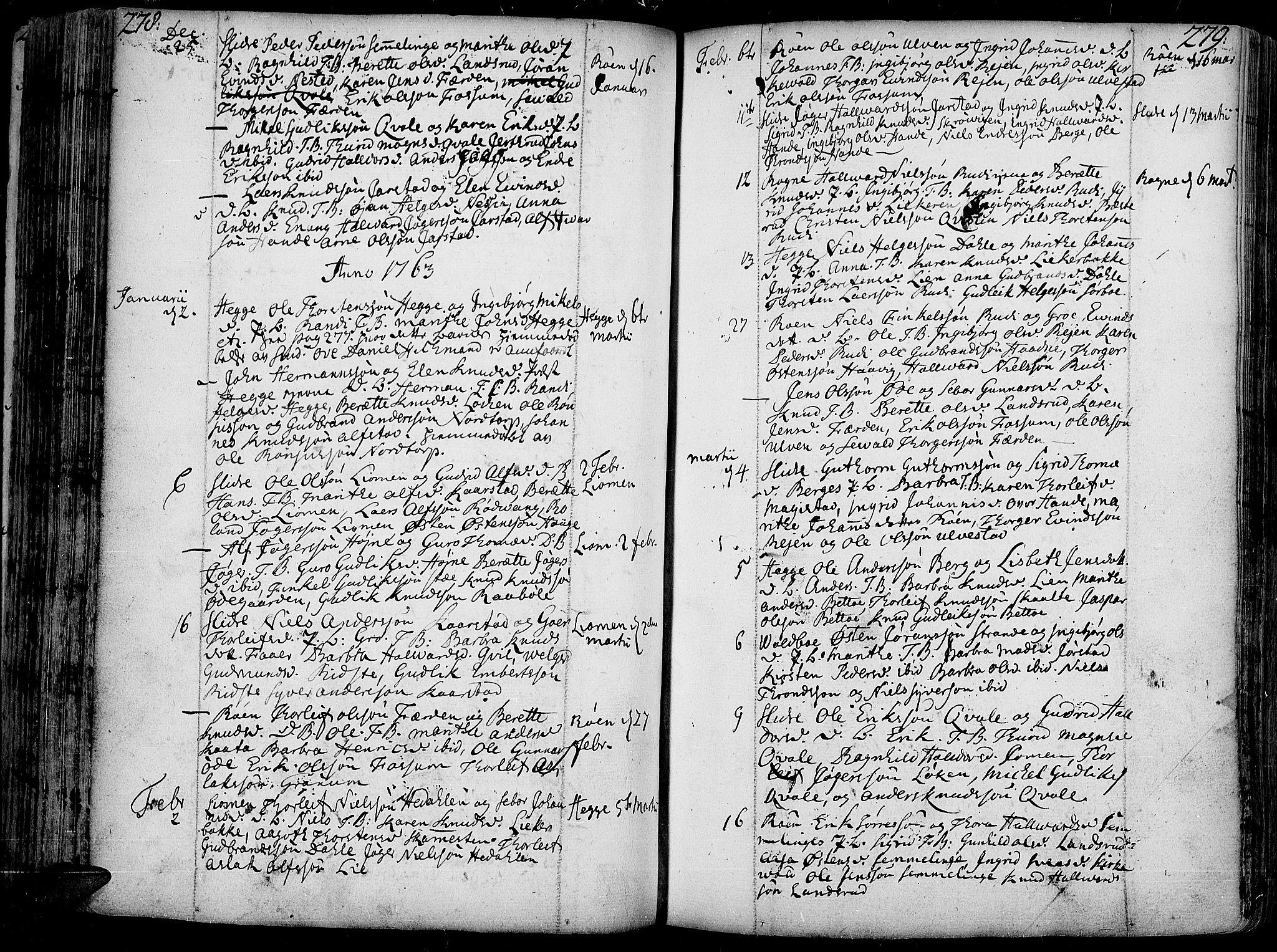 SAH, Slidre prestekontor, Ministerialbok nr. 1, 1724-1814, s. 278-279