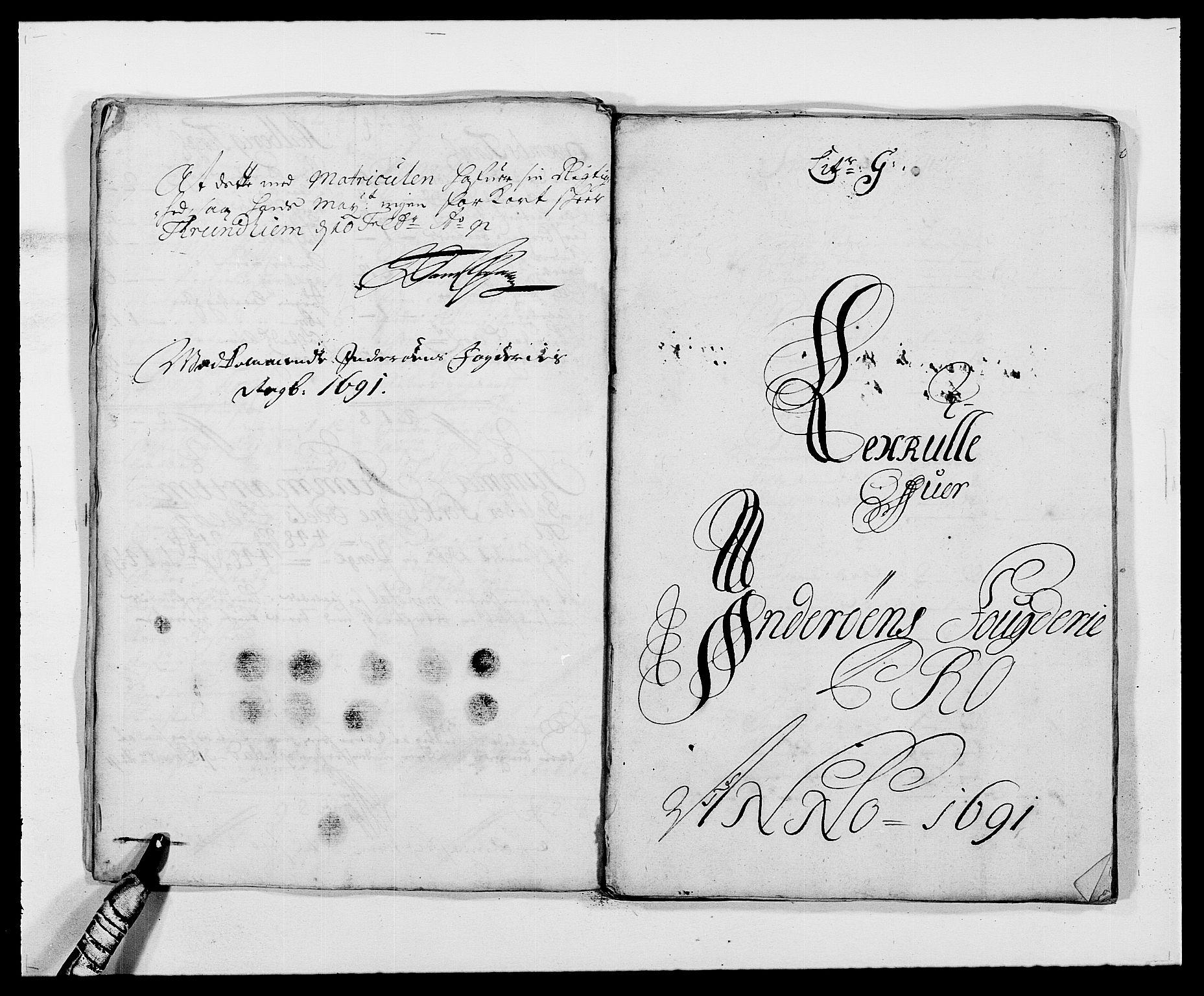 RA, Rentekammeret inntil 1814, Reviderte regnskaper, Fogderegnskap, R63/L4307: Fogderegnskap Inderøy, 1690-1691, s. 312