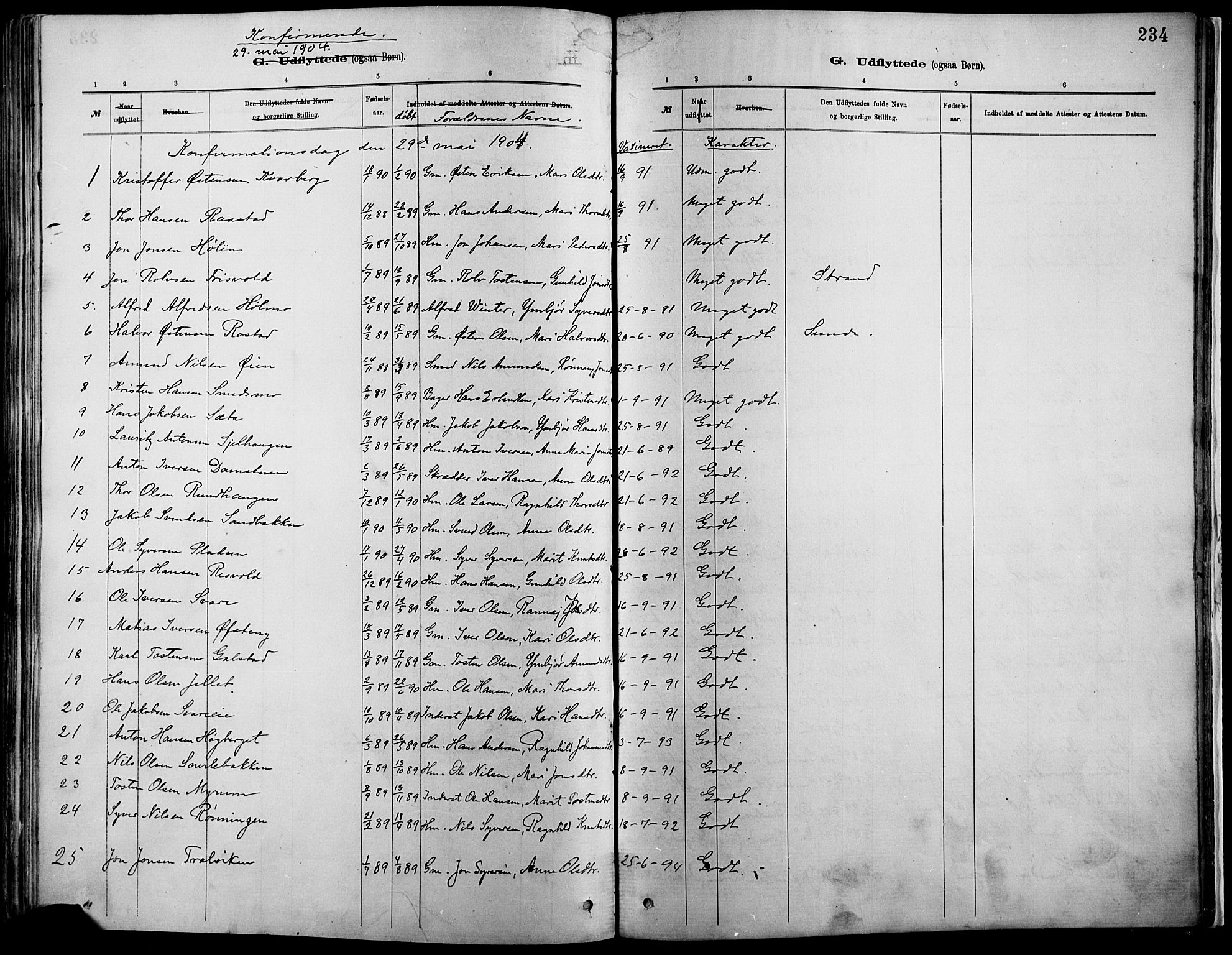 SAH, Vågå prestekontor, Ministerialbok nr. 9, 1886-1904, s. 234